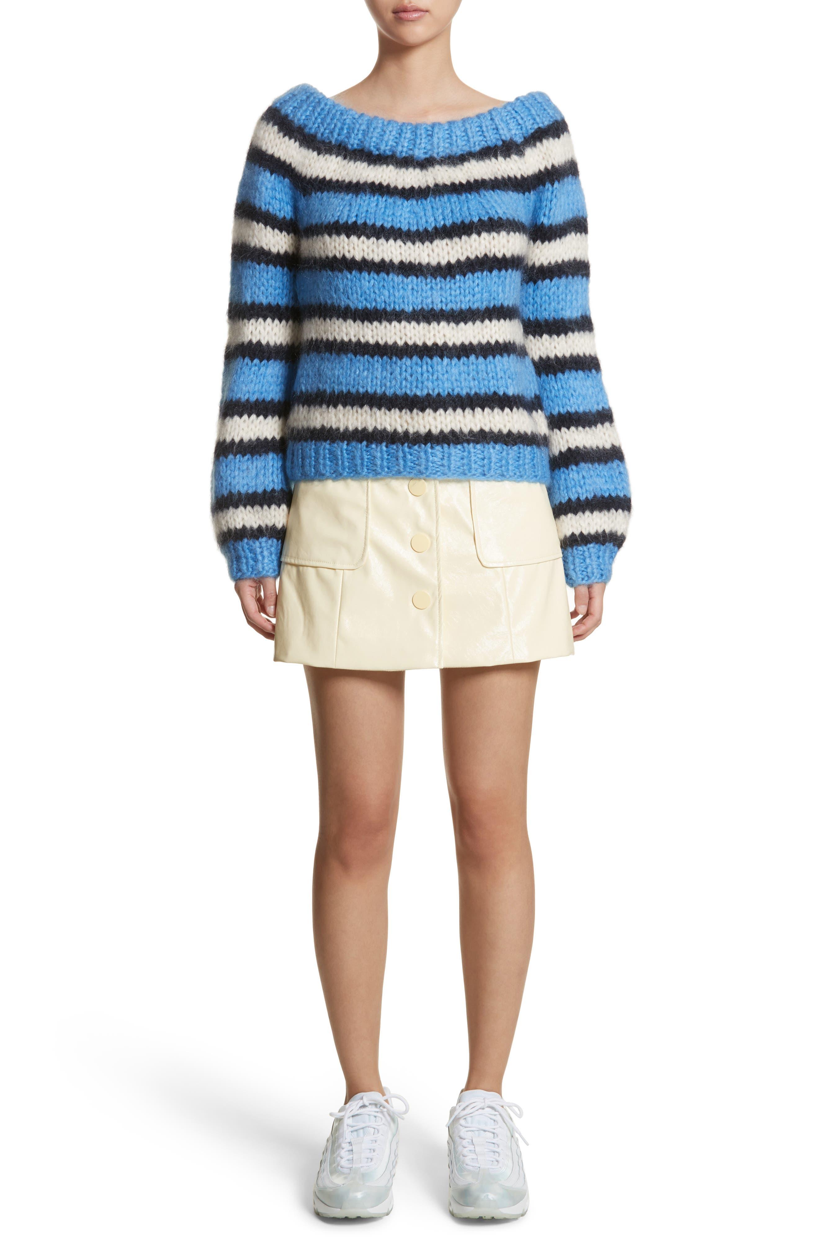Juilliard Stripe Mohair & Wool Sweater,                             Alternate thumbnail 7, color,                             Block Colour