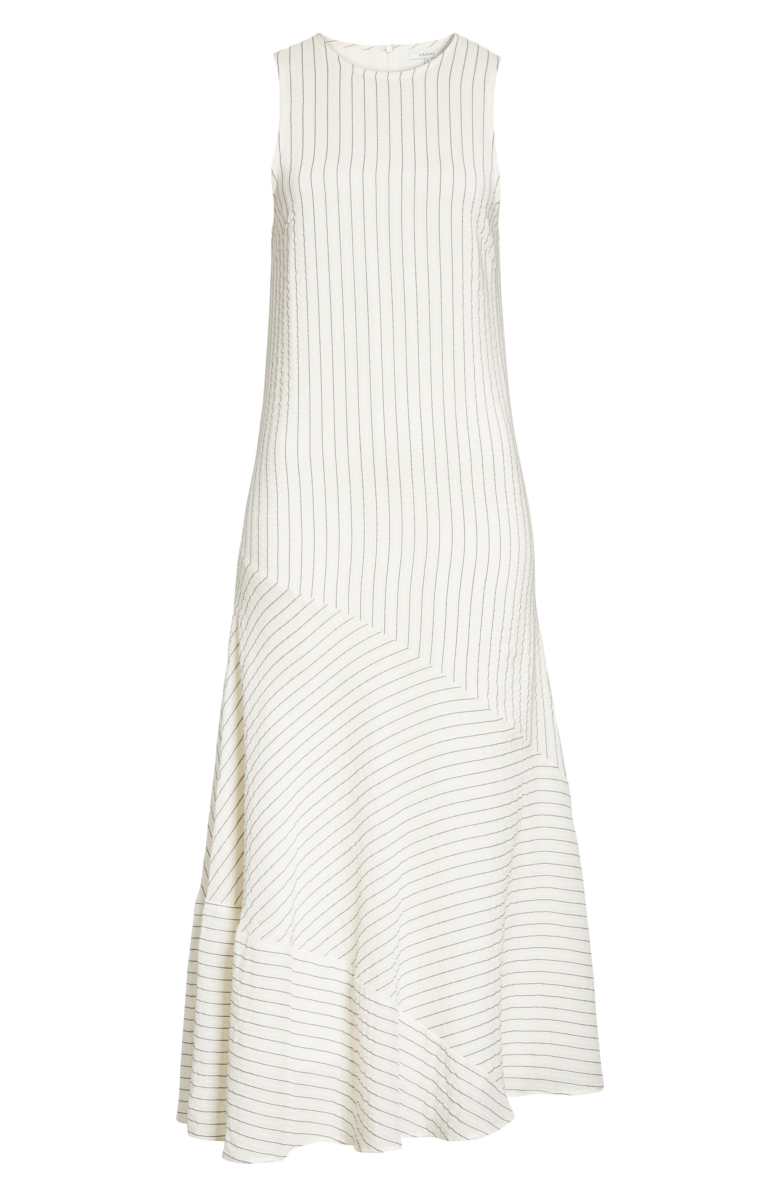 Wilkie Seersucker Striped Sheath Dress,                             Alternate thumbnail 7, color,                             Vanilla Ice