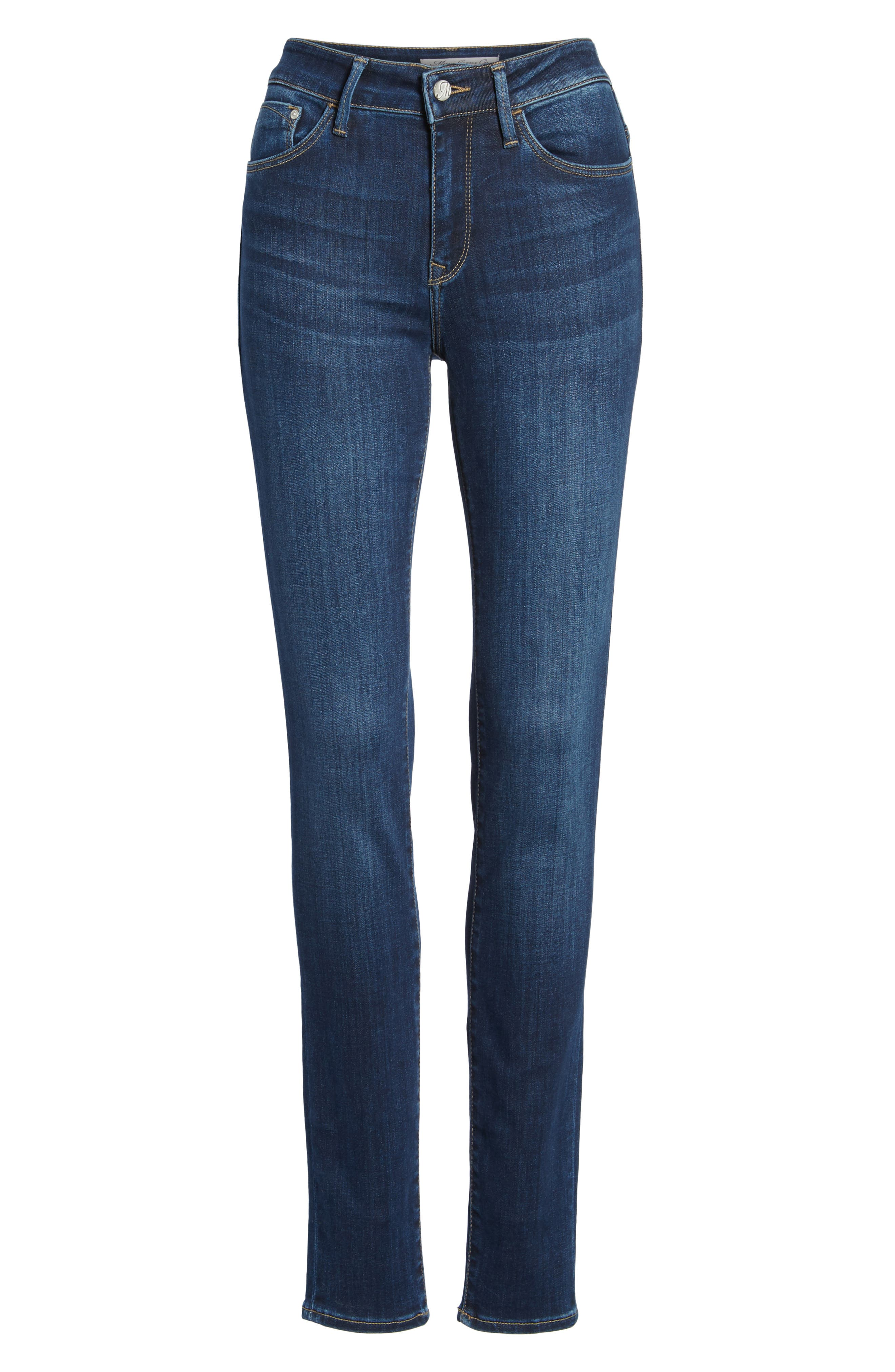 Alternate Image 6  - Mavi Jeans Alissa Skinny Jeans (Dark Supersoft)