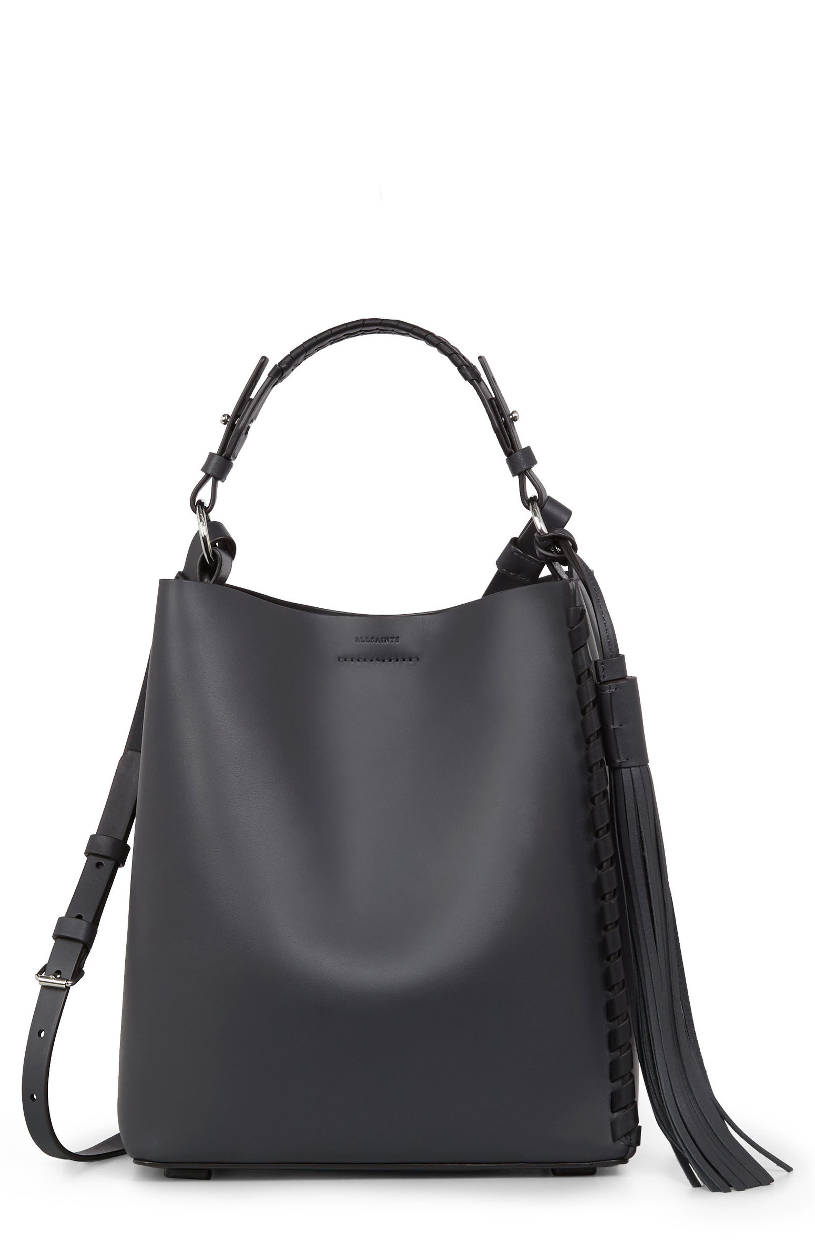 Alternate Image 1 Selected - ALLSAINTS Kepi Leather Shoulder Bag
