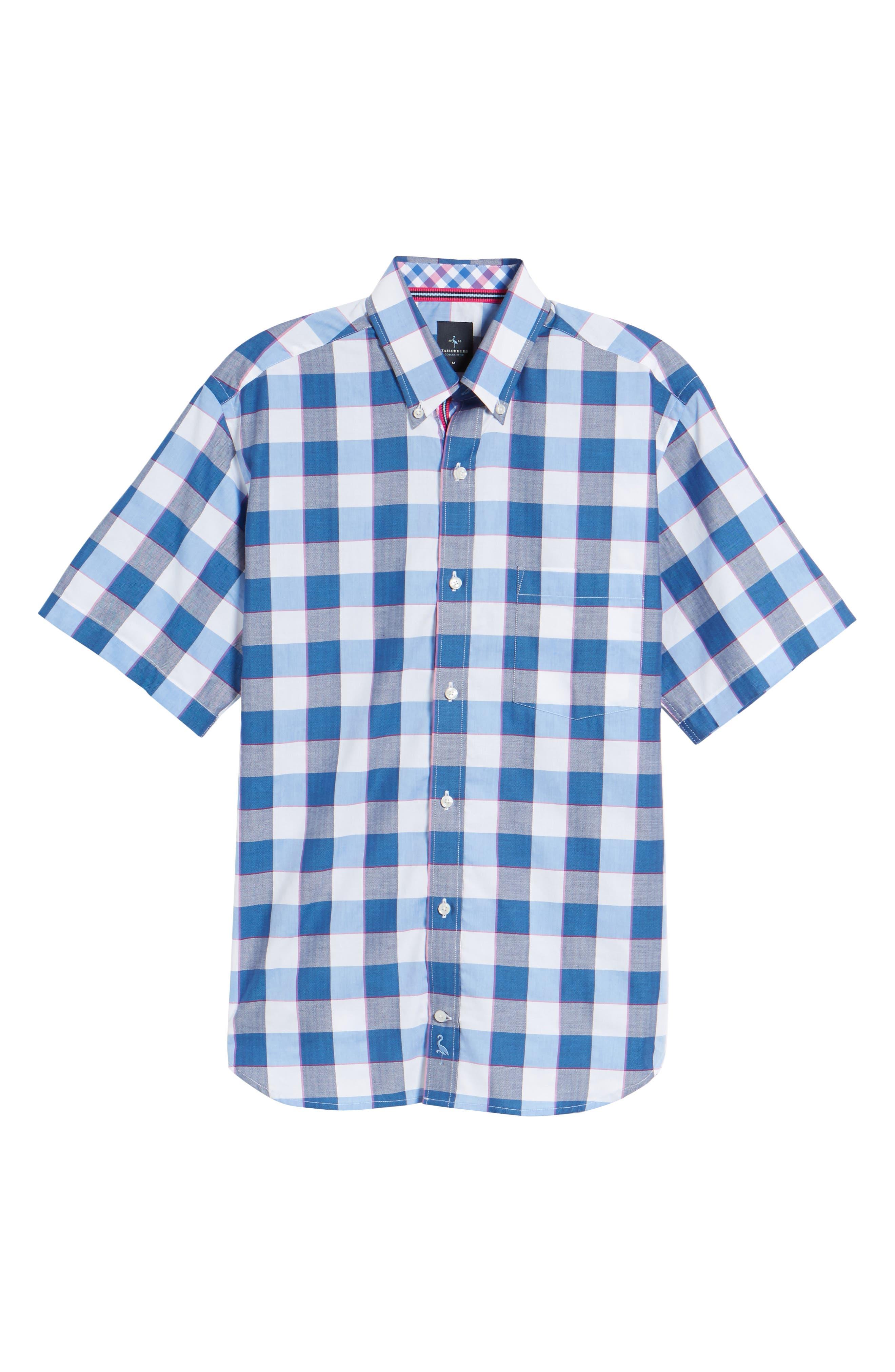 Jeff Regular Fit Check Sport Shirt,                             Alternate thumbnail 6, color,                             Navy