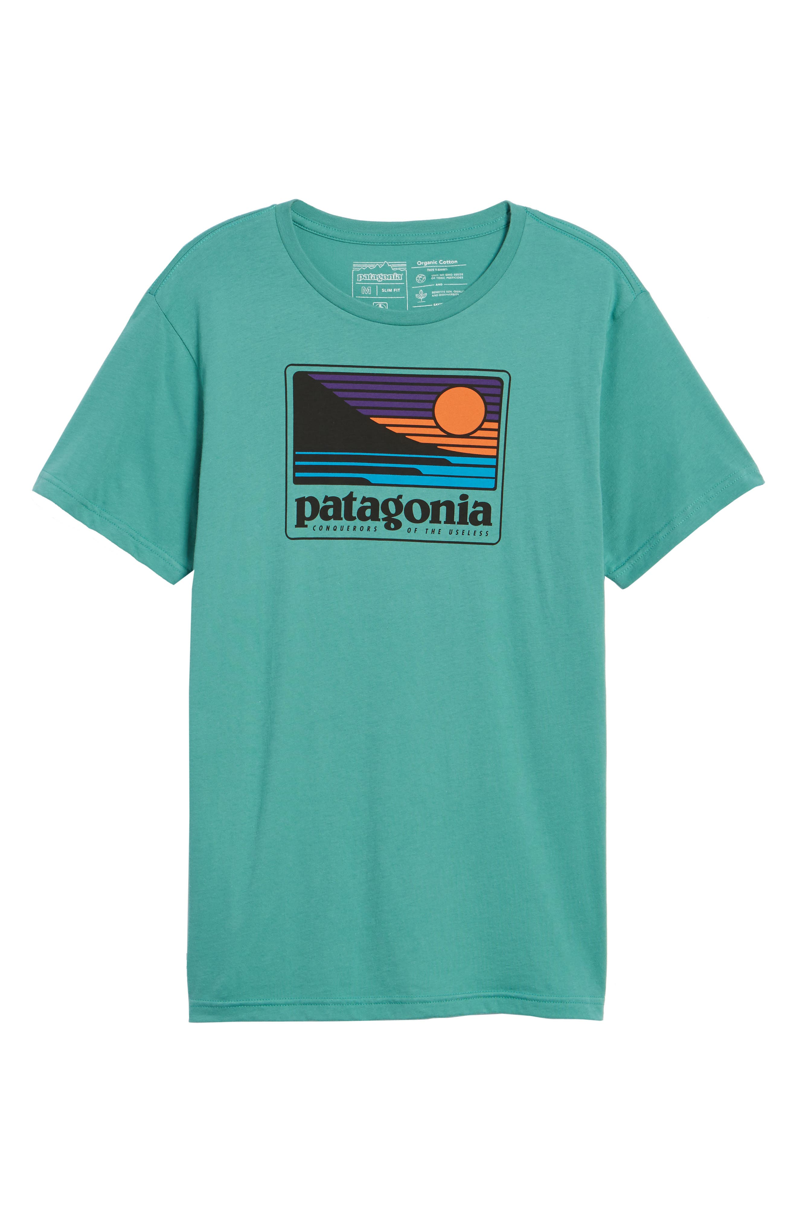 Up & Out Graphic Organic Cotton T-Shirt,                             Alternate thumbnail 6, color,                             Beryl Green