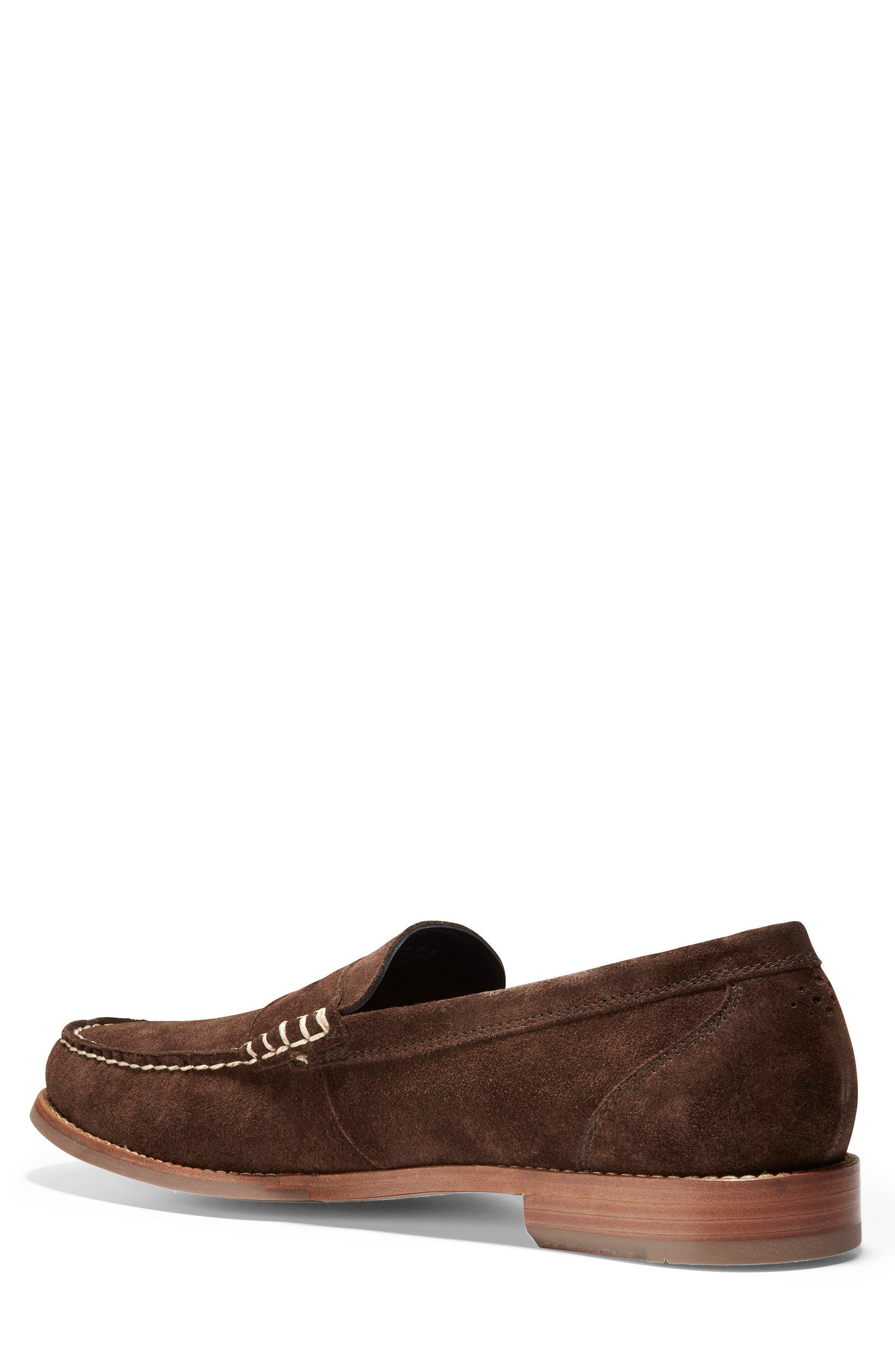 'Pinch Grand' Penny Loafer,                             Alternate thumbnail 2, color,                             Brown Suede