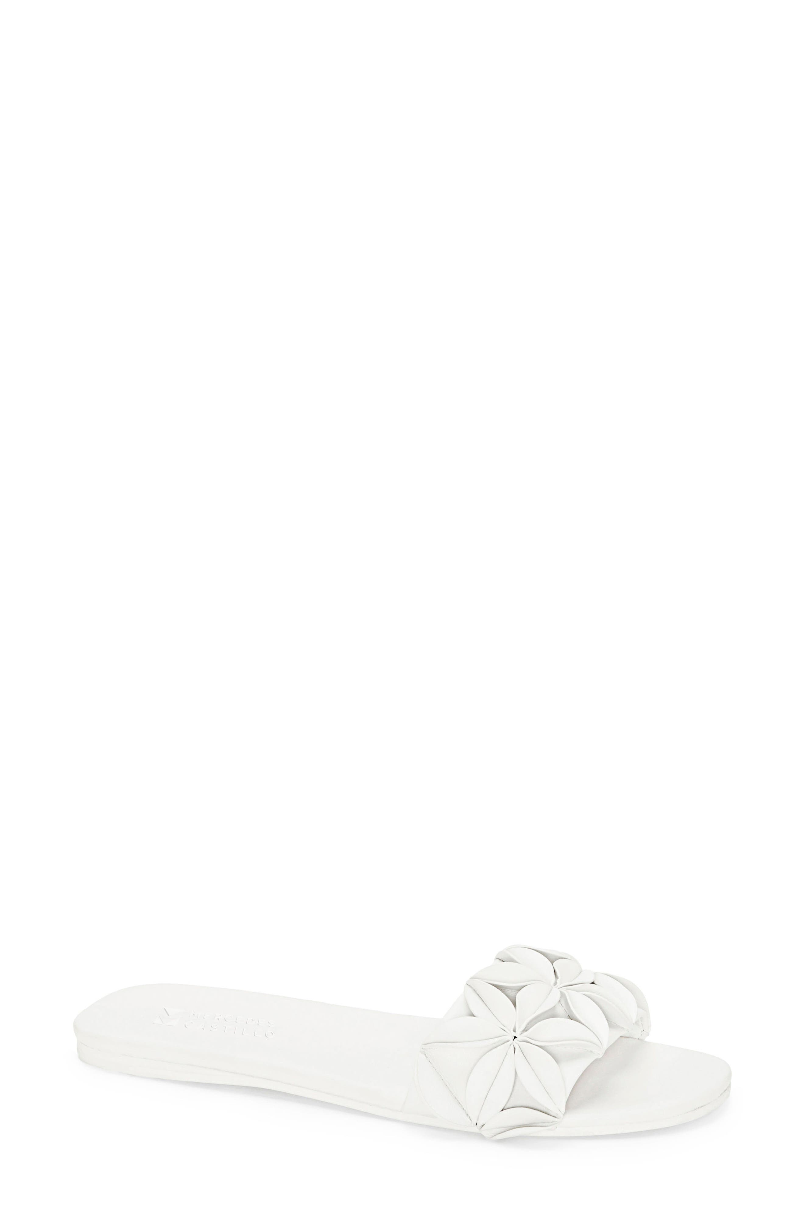 Matilda Slide Sandal,                             Main thumbnail 1, color,                             White