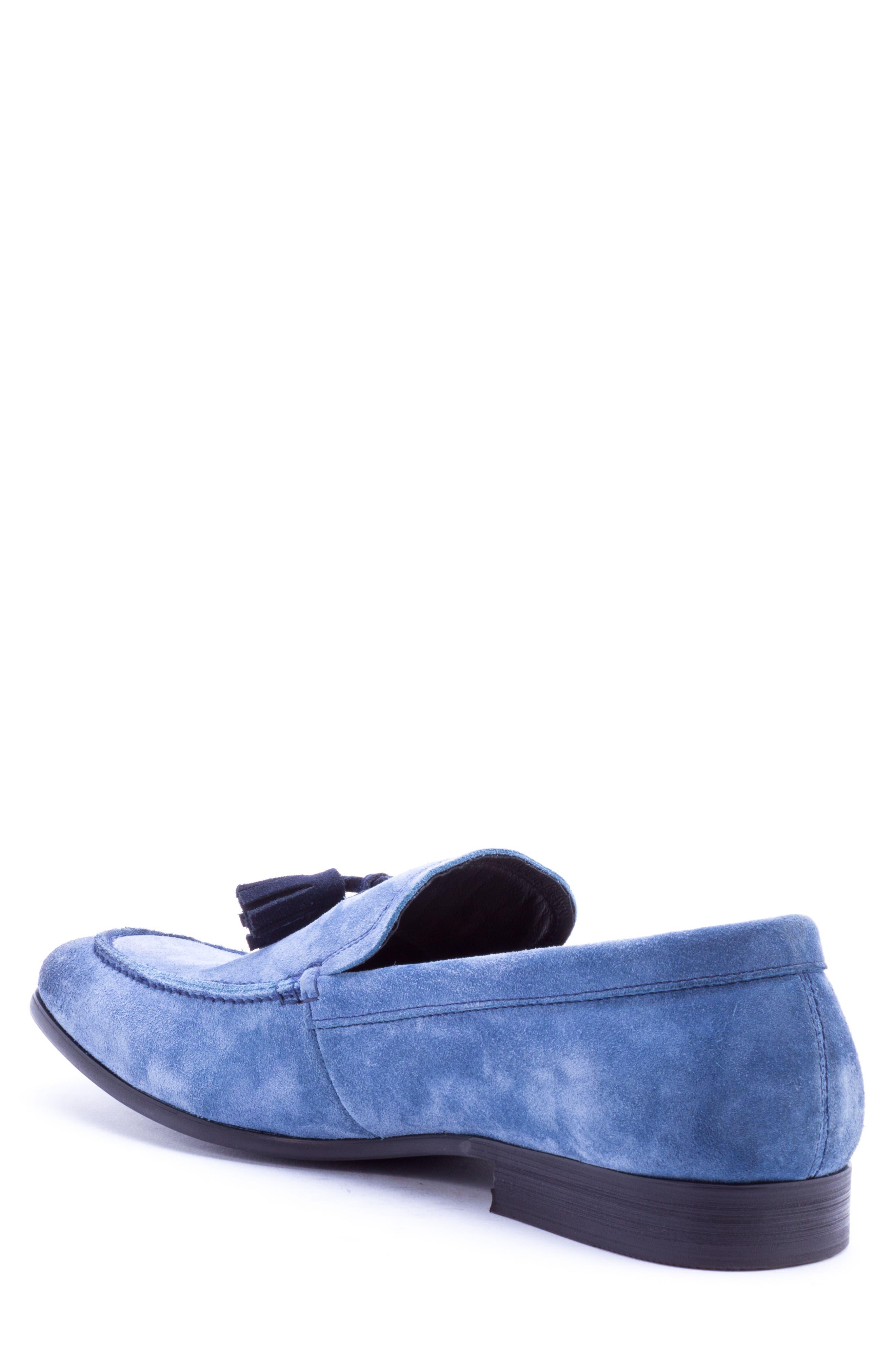 Severn Tassel Venetian Loafer,                             Alternate thumbnail 2, color,                             Blue Suede