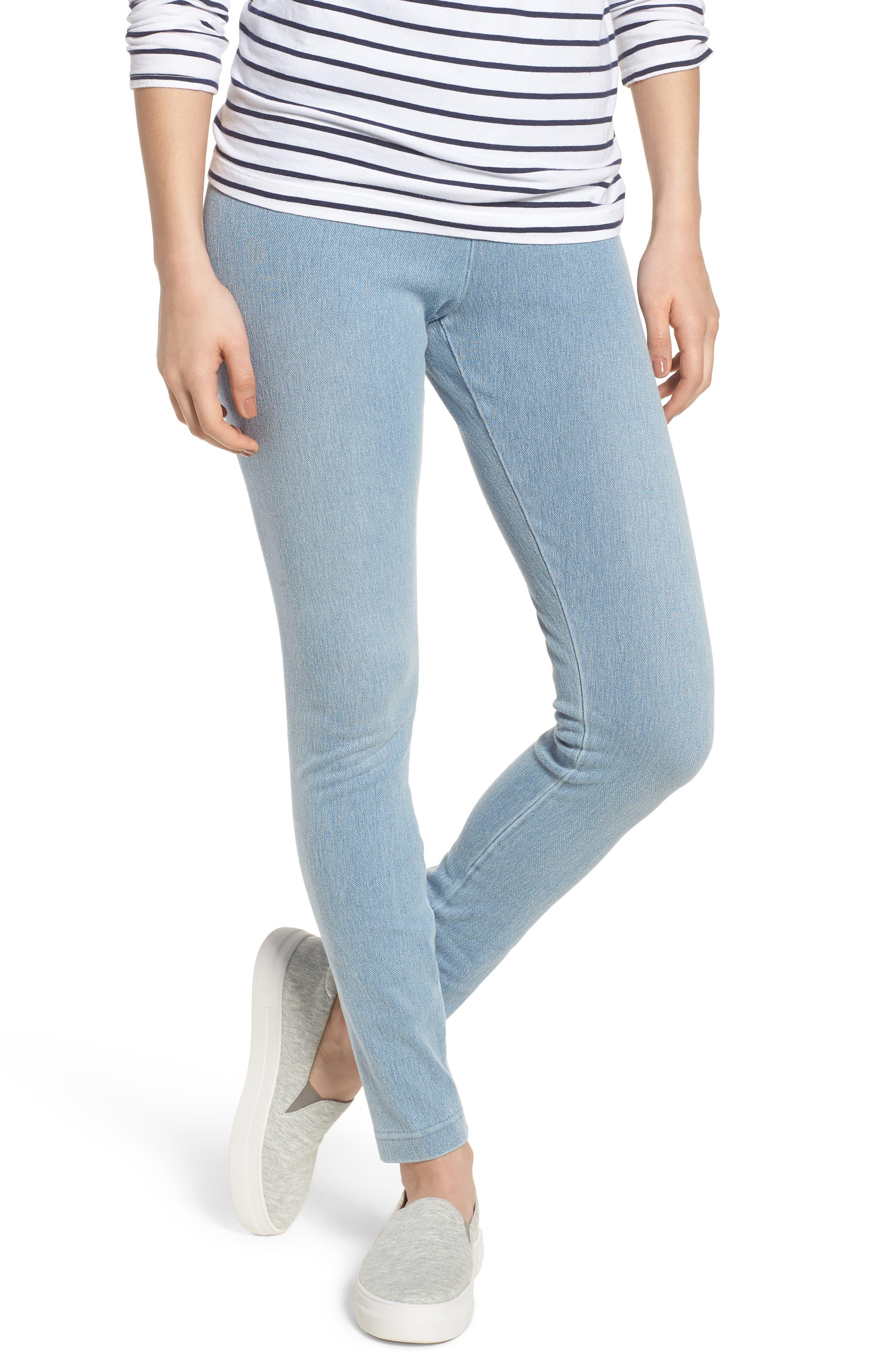 High Waist Denim Leggings,                         Main,                         color, Cashmere Blue