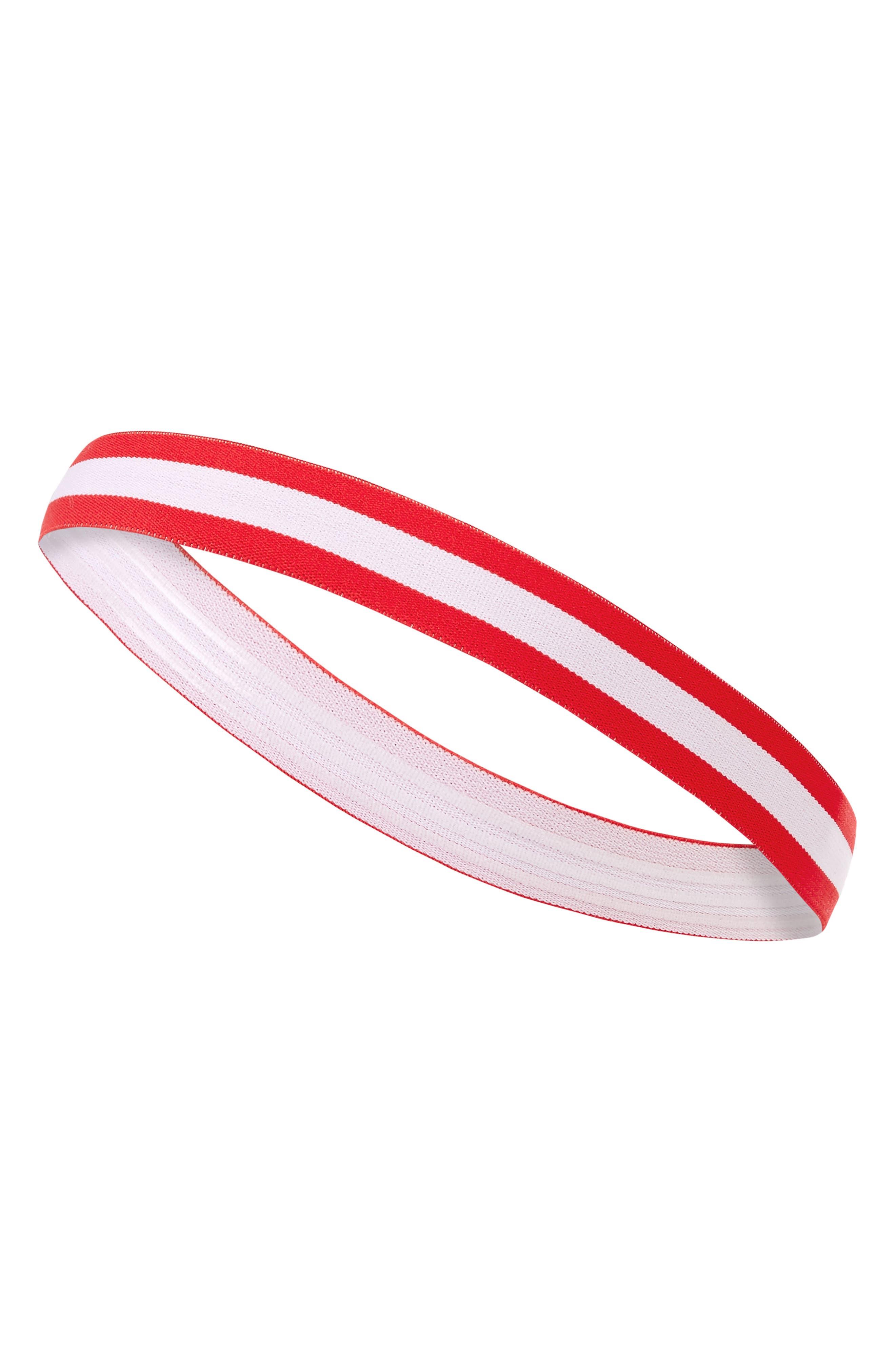Medium Headband,                             Main thumbnail 1, color,                             Red/ White