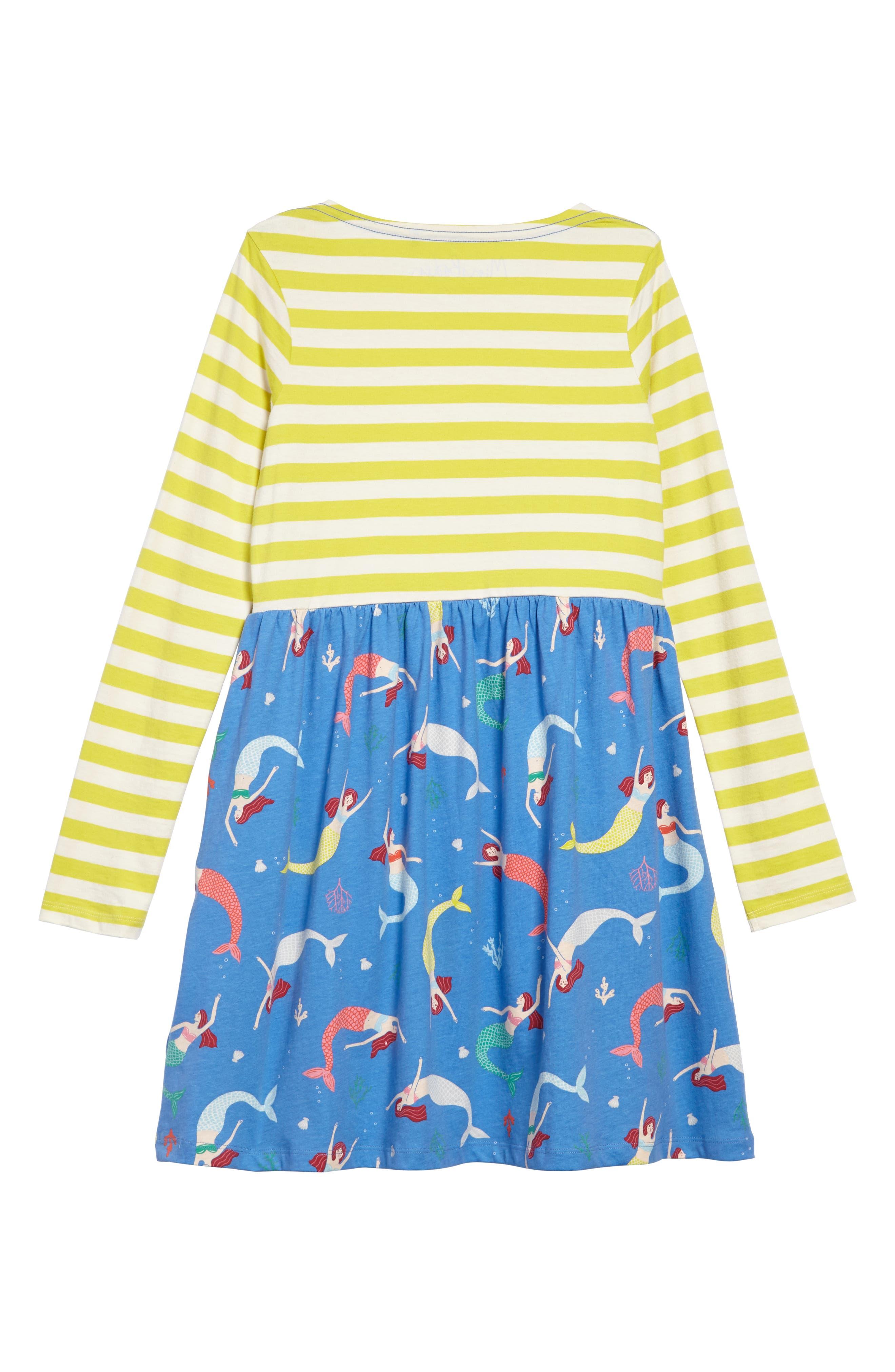 Hotchpotch Jersey Dress,                             Alternate thumbnail 2, color,                             Penzance Blue Mermaid