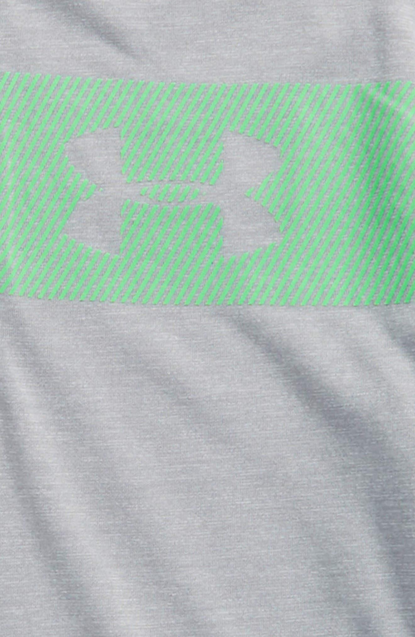 Threadborne HeatGear<sup>®</sup> Quarter Zip Pullover,                             Alternate thumbnail 2, color,                             Overcast Gray Light Heather