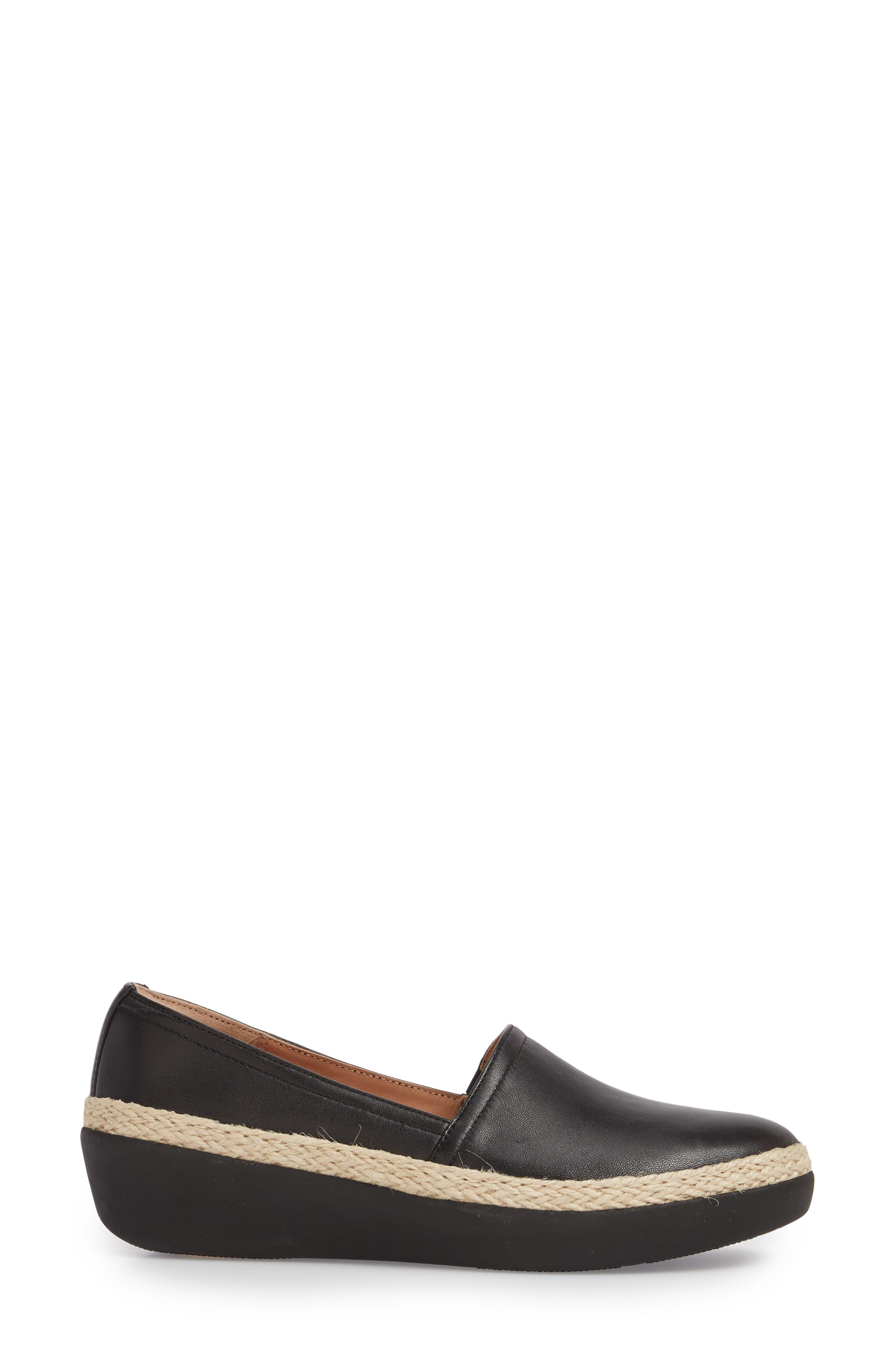 Casa Loafer,                             Alternate thumbnail 3, color,                             Black Leather