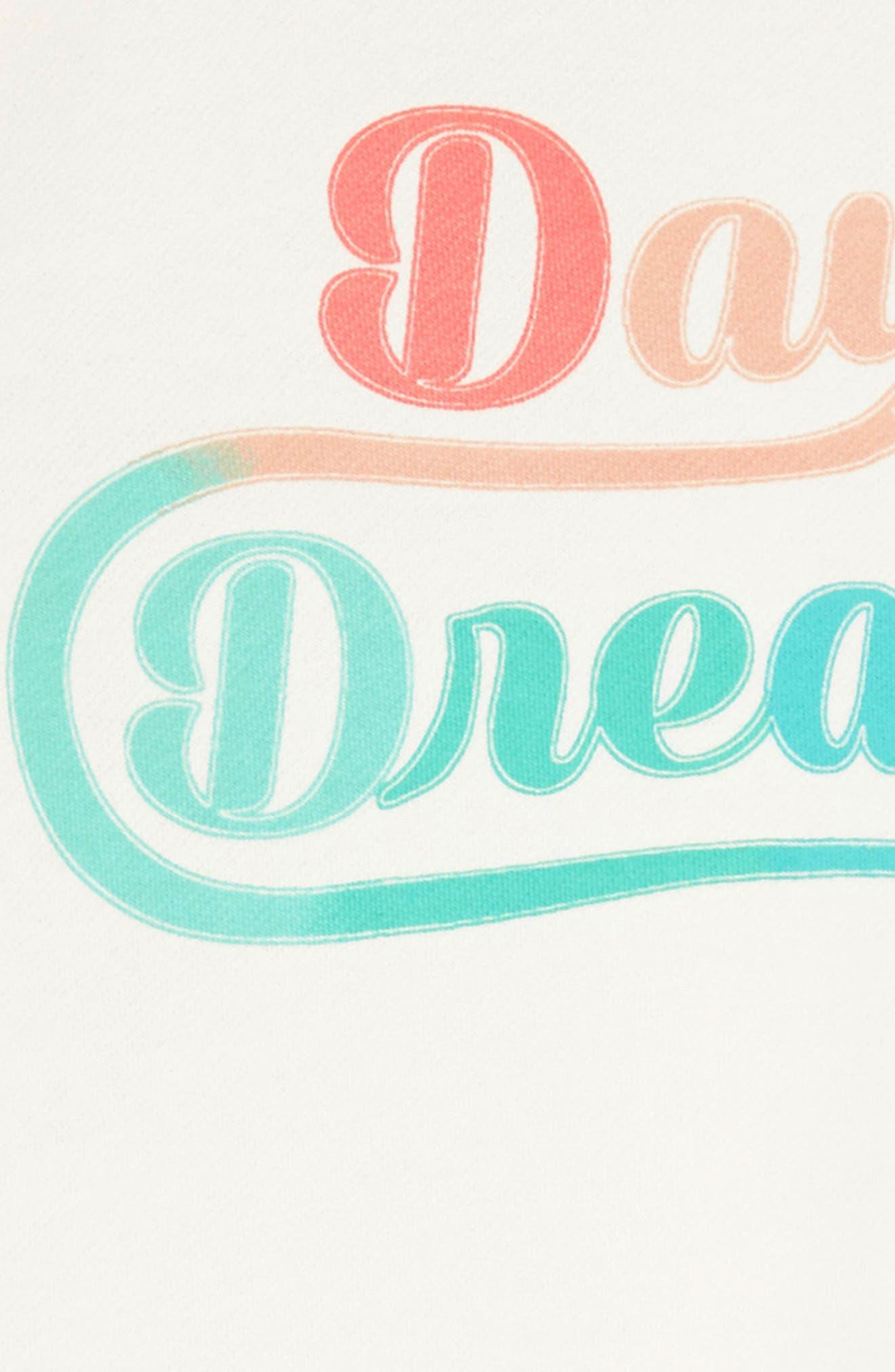 Sweatshirt Dress,                             Alternate thumbnail 3, color,                             Ivory Egret Daydream