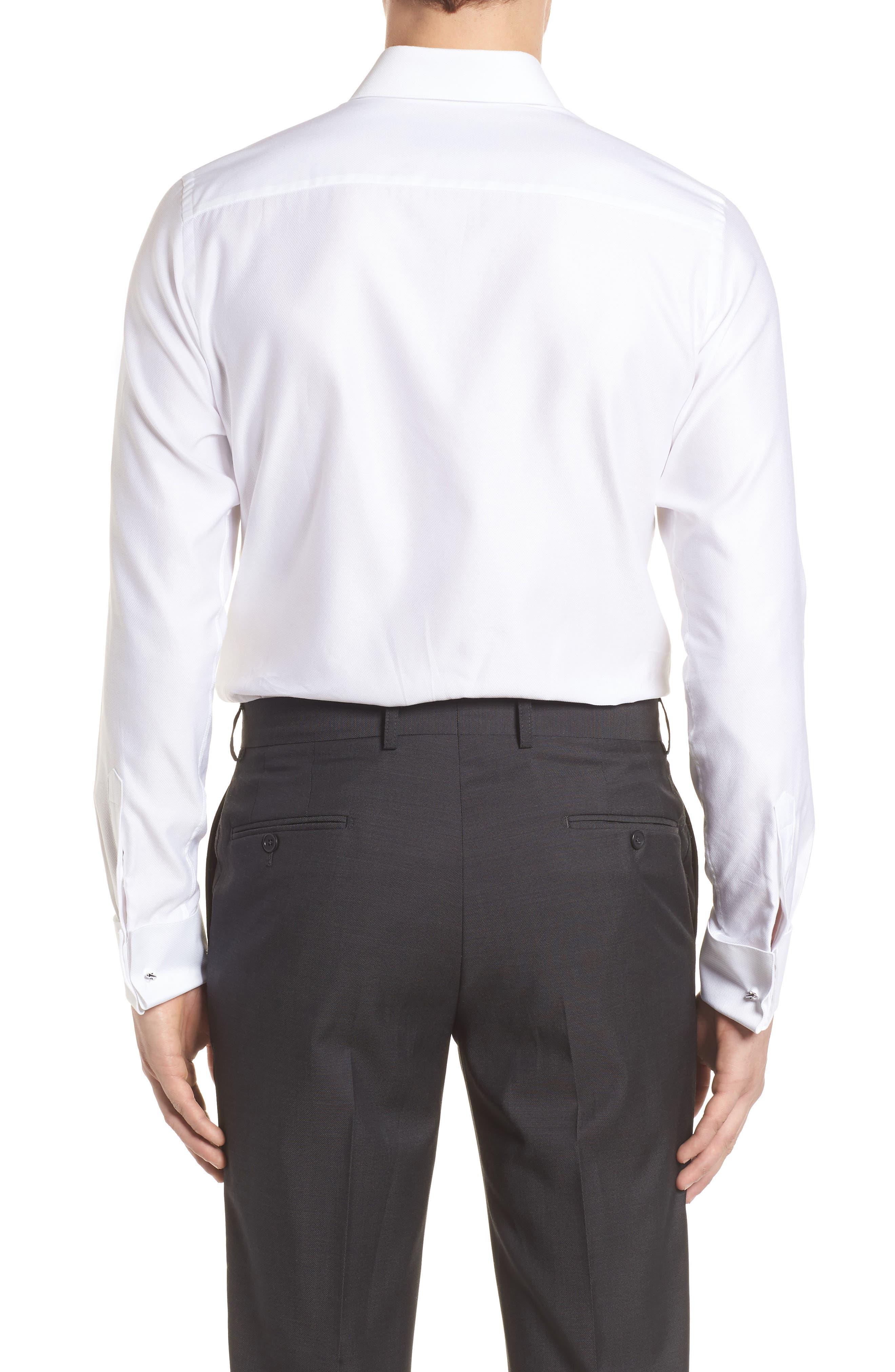 Slim Fit Tuxedo Shirt,                             Alternate thumbnail 3, color,                             White