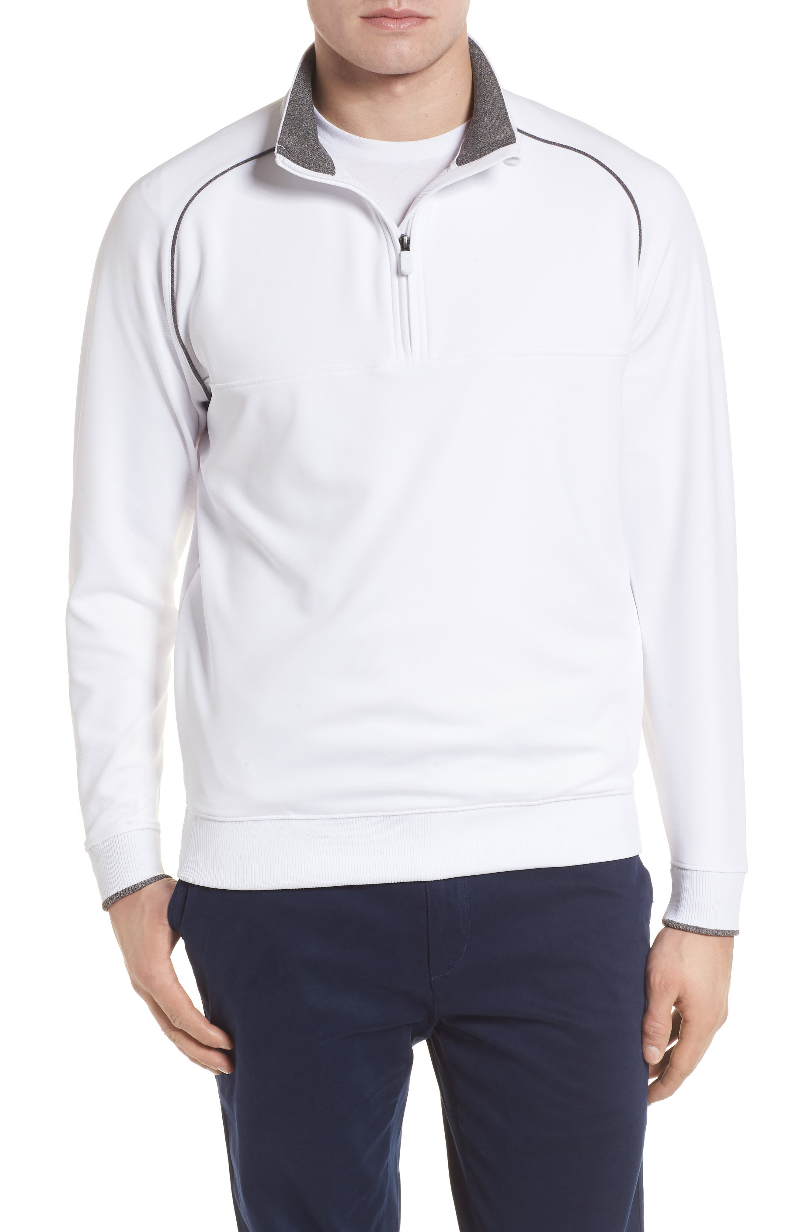 XH20 Banded Bottom Pullover,                         Main,                         color, White