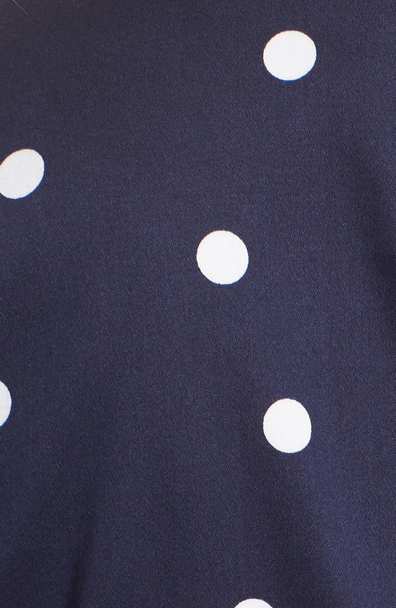Scattered Dot Notch Collar Dress,                             Alternate thumbnail 5, color,                             Breton Blue/ Optic White