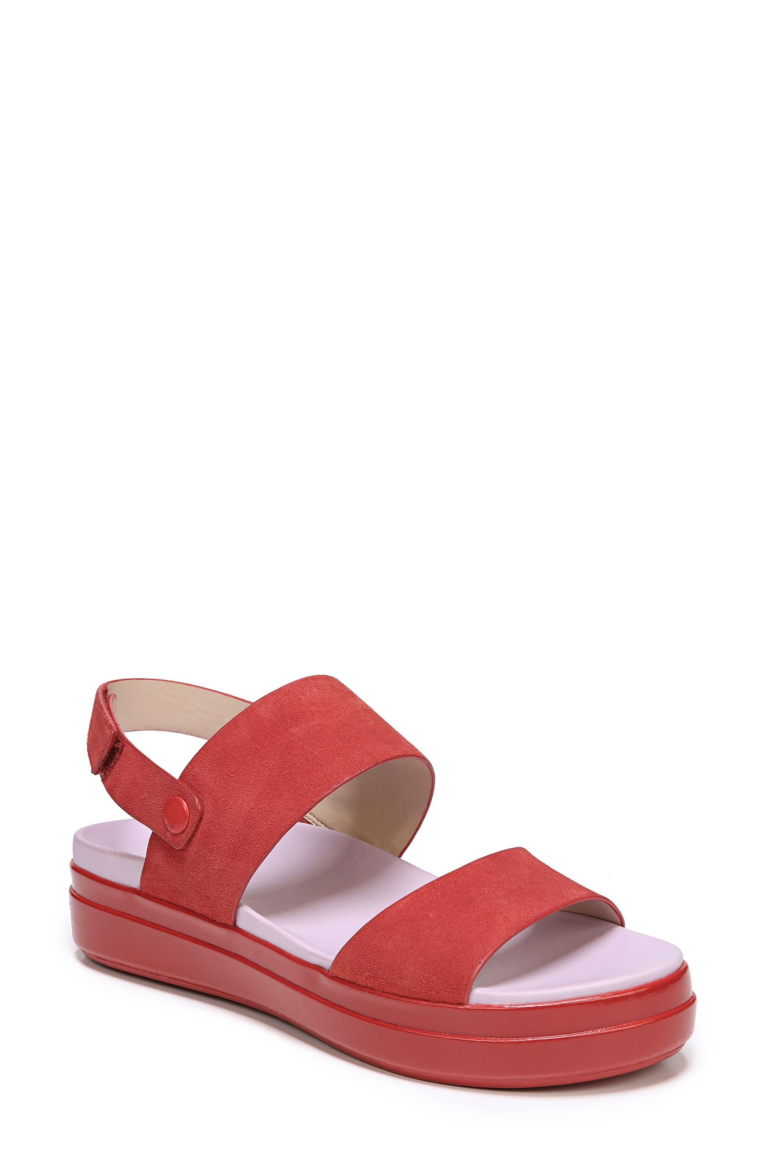 Scout Platform Sandal,                         Main,                         color, Paprika Suede