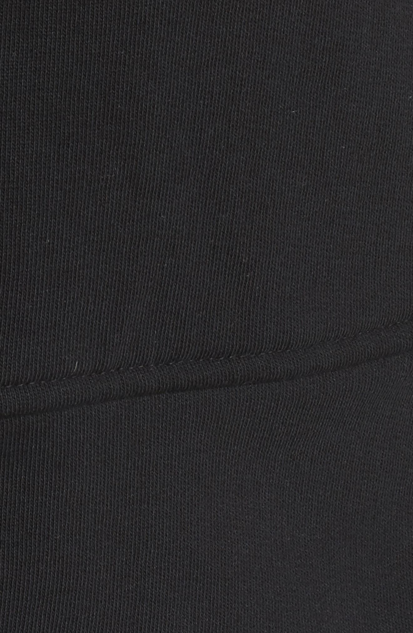 Knit Peplum Jacket,                             Alternate thumbnail 6, color,                             Black