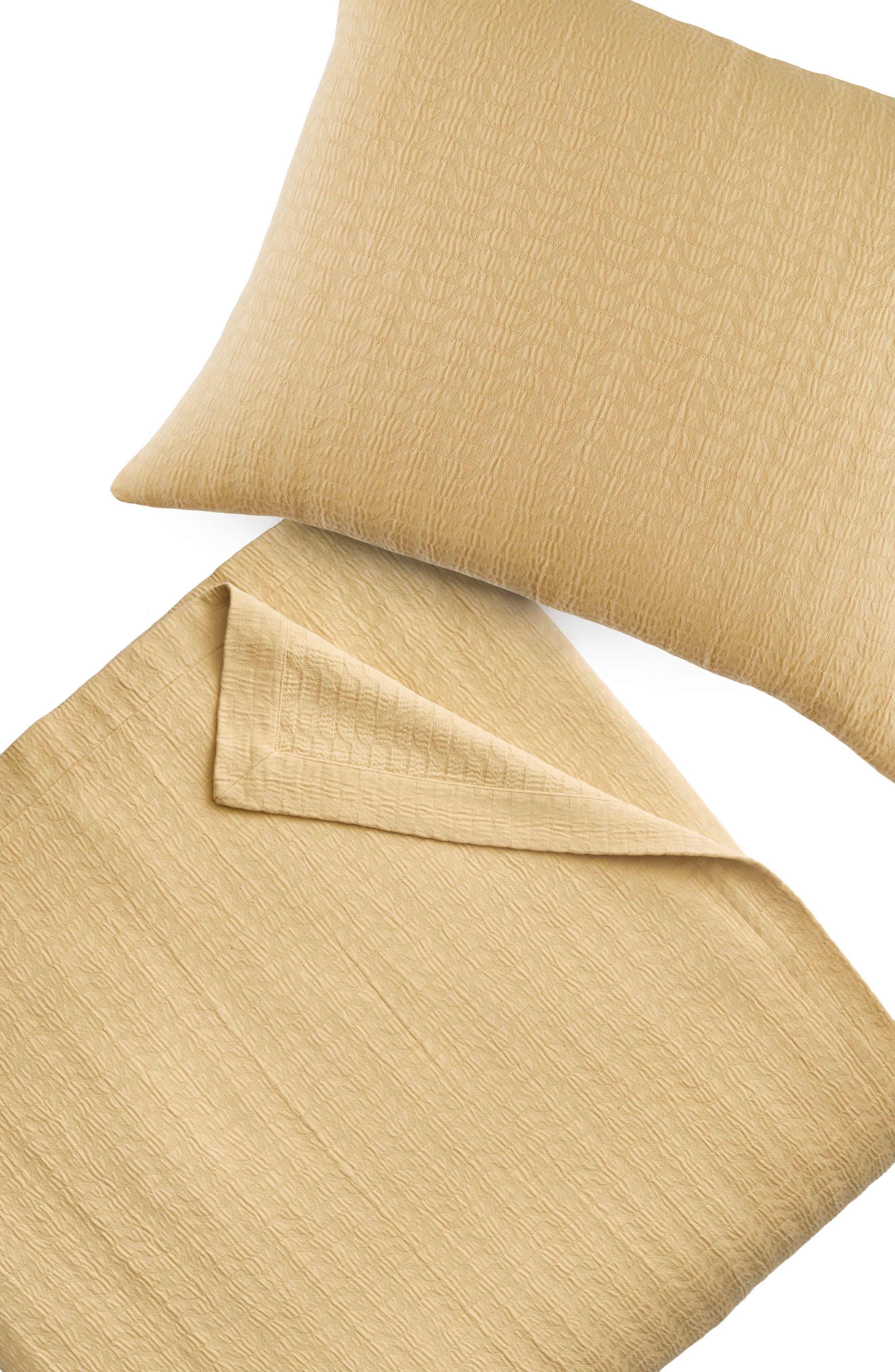 Cosima 200 Thread Count Pillow Sham,                             Alternate thumbnail 3, color,                             Medium Yellow