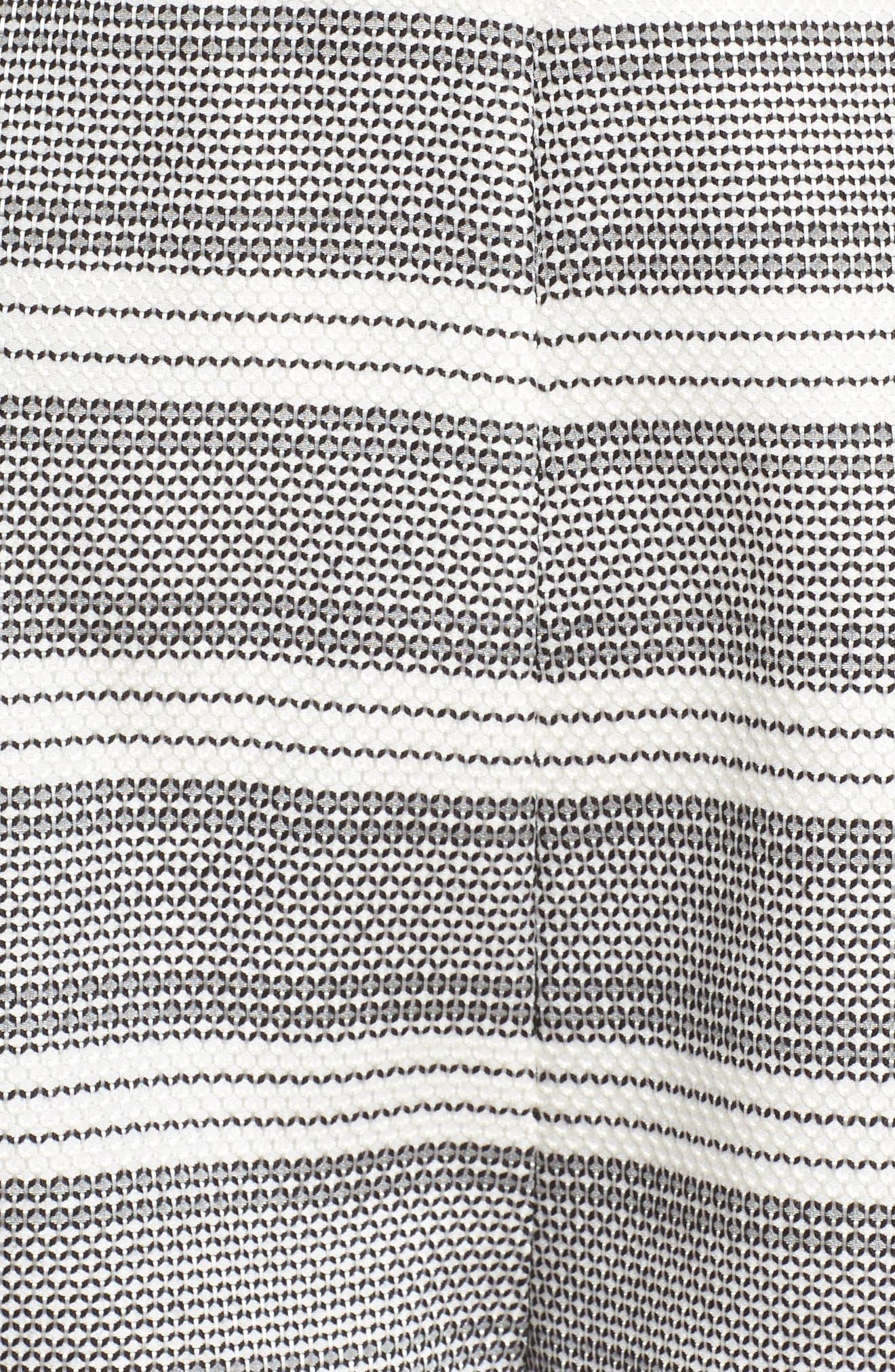 Lucille Jacquard Romper,                             Alternate thumbnail 6, color,                             Black/ White