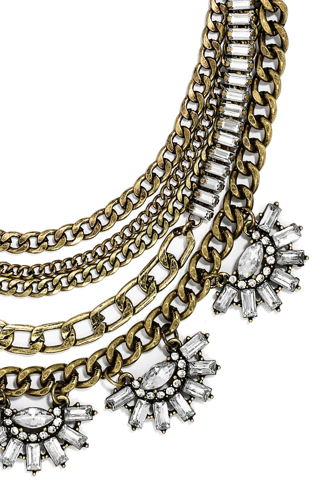 Alternate Image 2  - BaubleBar 'Sundial' Chain Bib Necklace