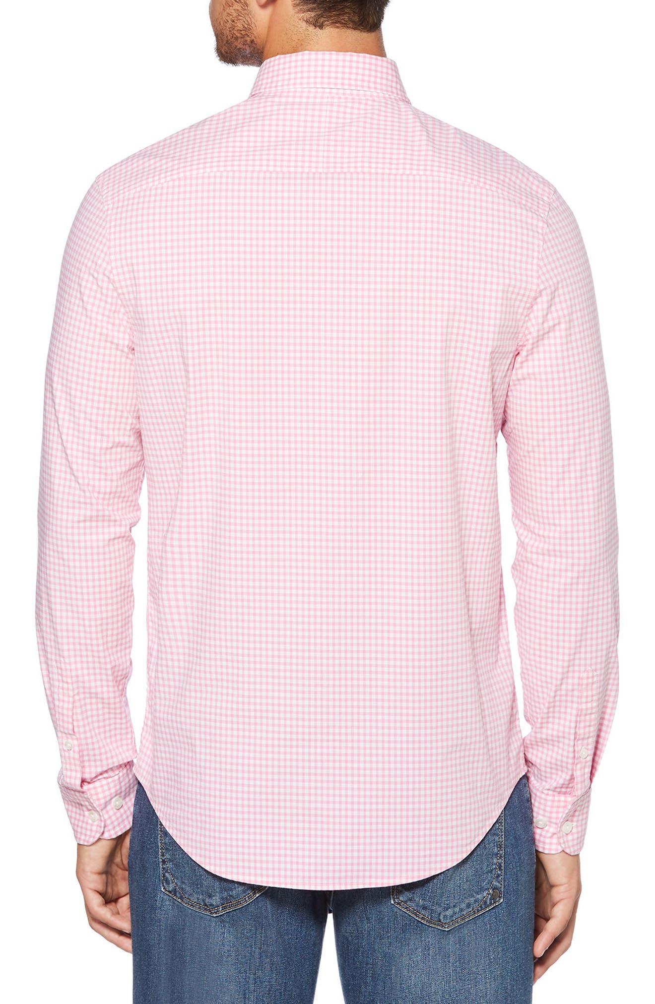 Gingham Shirt,                             Alternate thumbnail 2, color,                             Fuchsia Pink