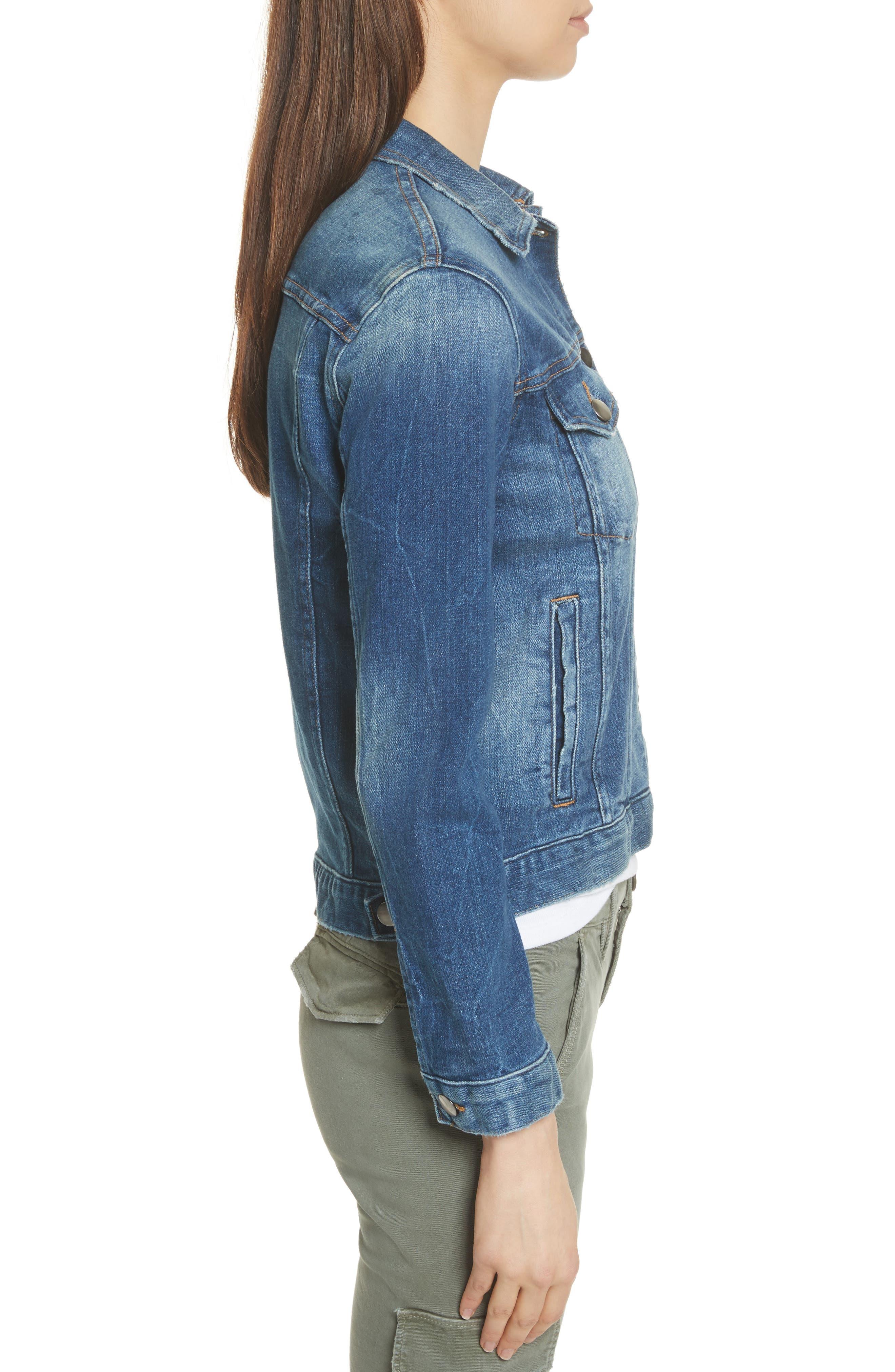 Le Vintage Denim Jacket,                             Alternate thumbnail 4, color,                             Waltham Way