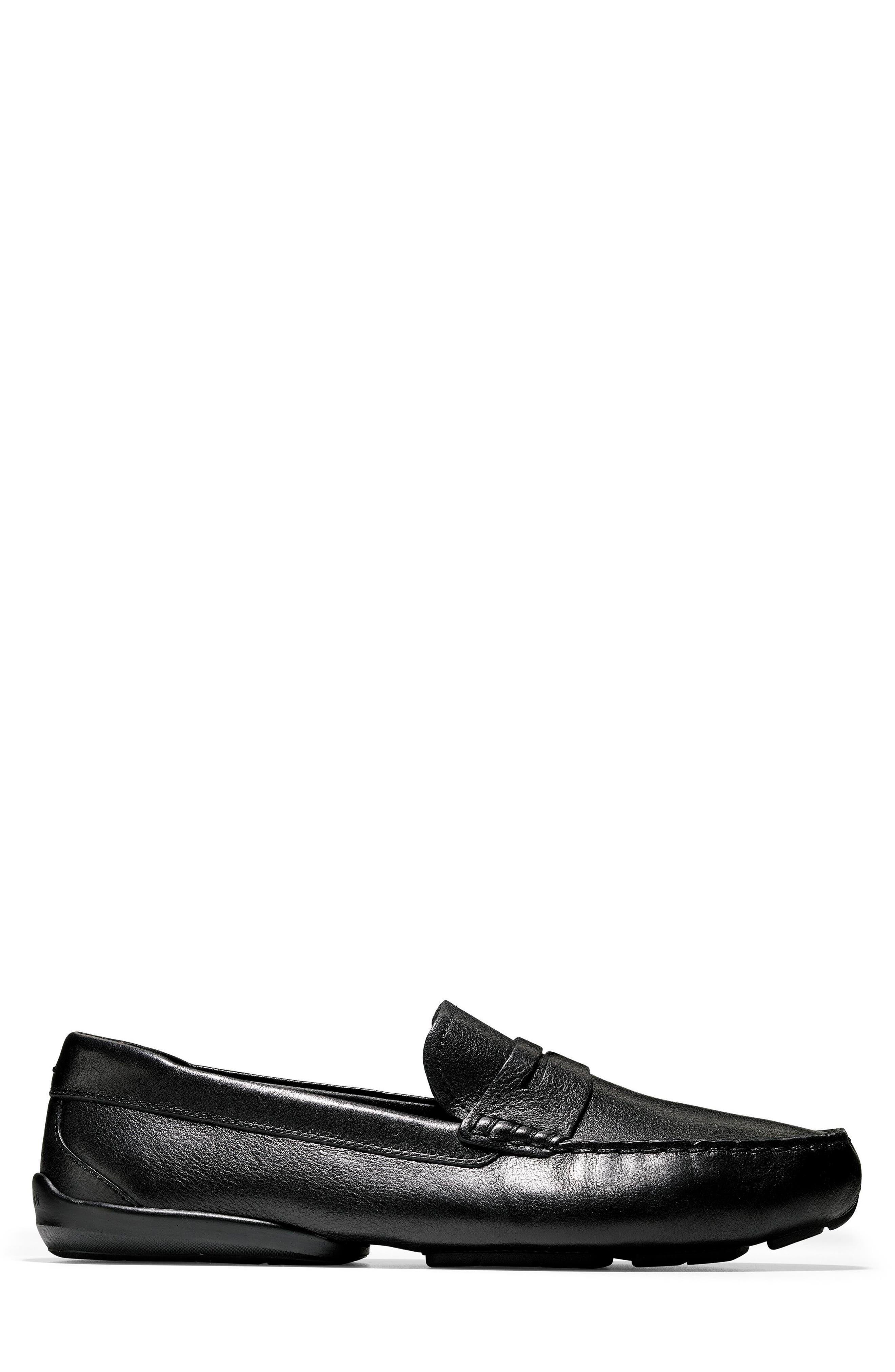 Branson Penny Driver,                             Alternate thumbnail 4, color,                             Black Leather
