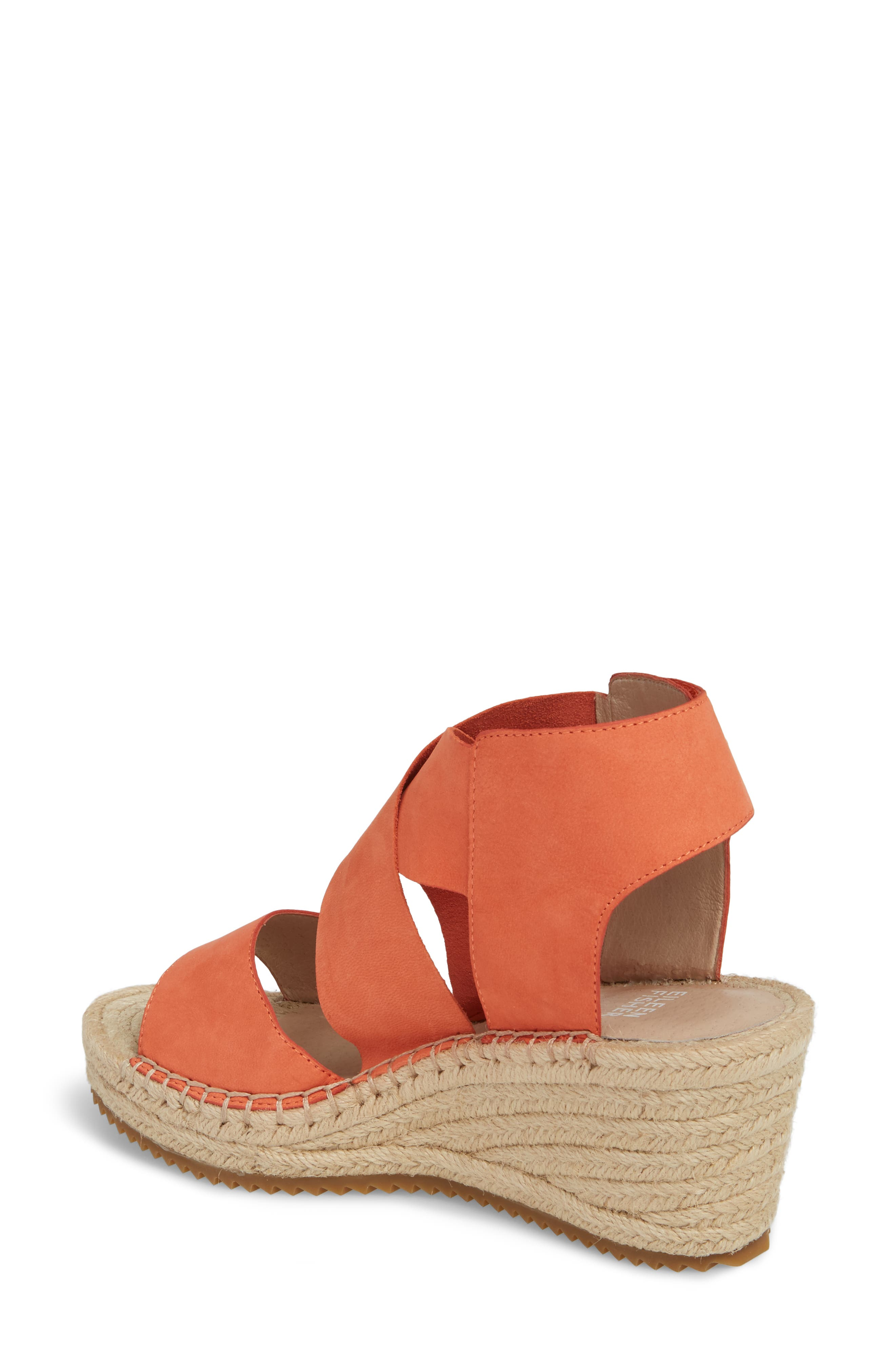 'Willow' Espadrille Wedge Sandal,                             Alternate thumbnail 2, color,                             Persimmon Leather