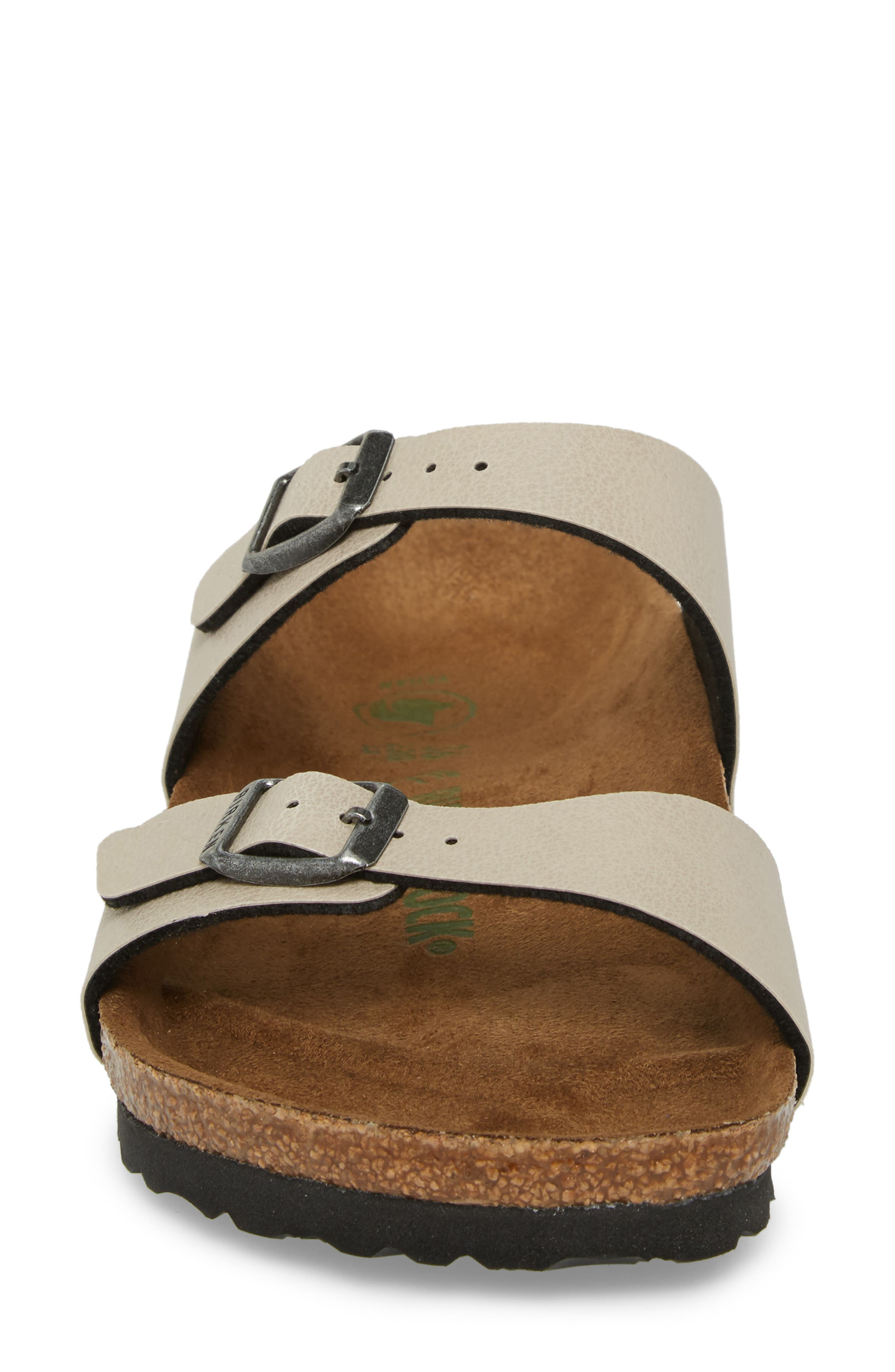 'Sydney' Sandal,                             Alternate thumbnail 4, color,                             Stone Leather