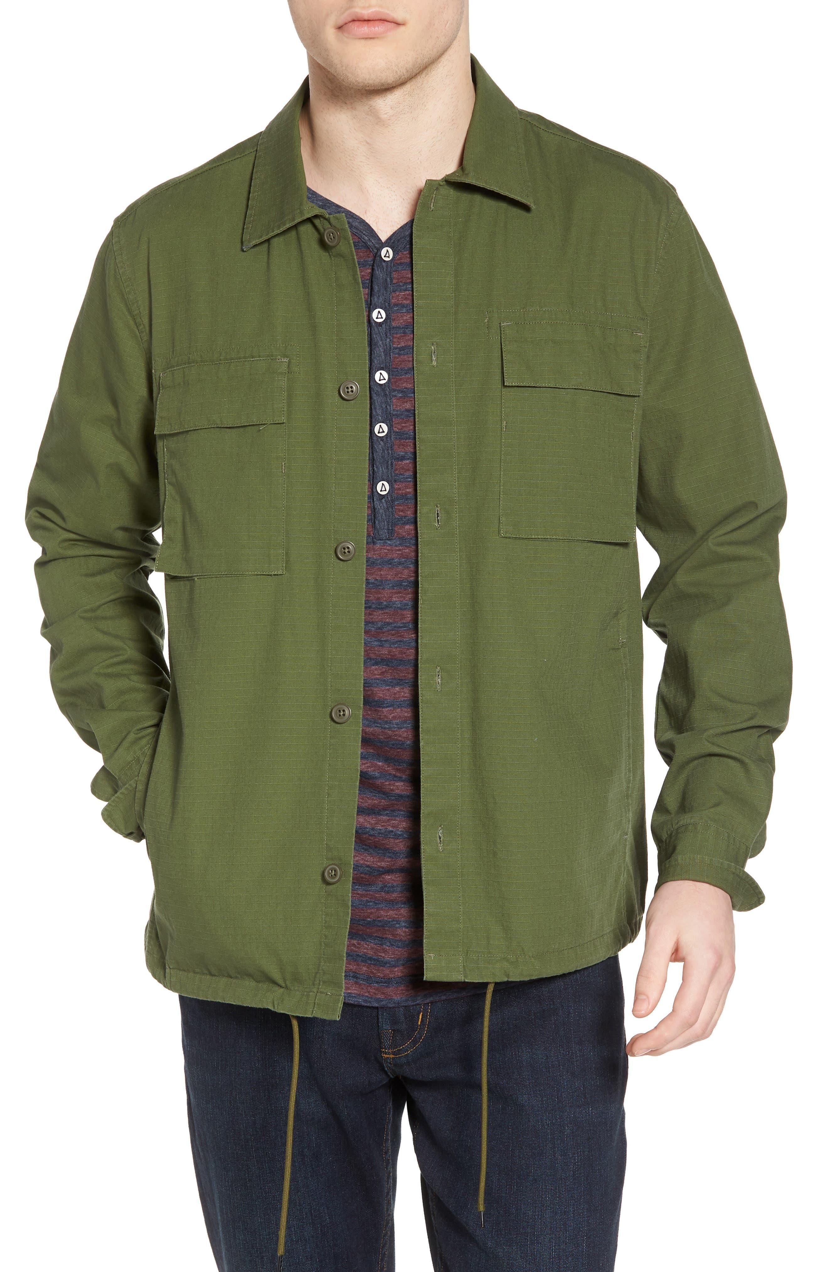 Oakledge Ripstop Shirt Jacket,                             Main thumbnail 1, color,                             Olive