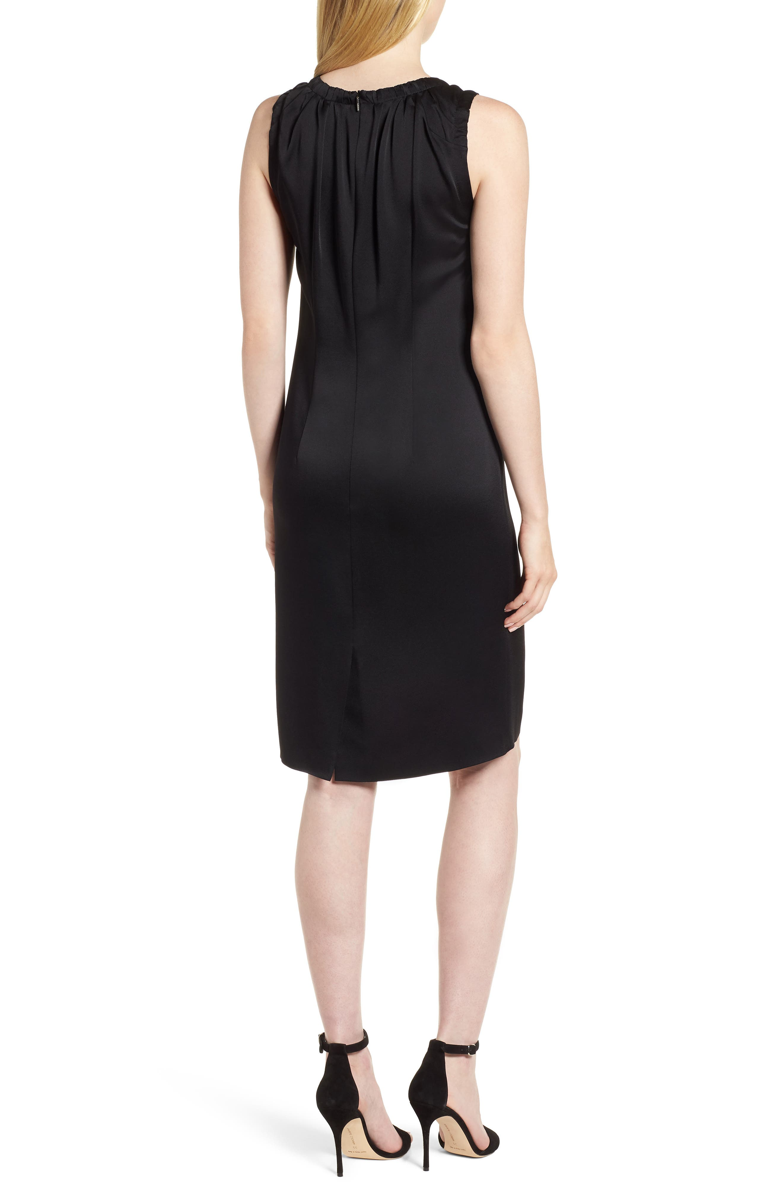 Daviana Sheath Dress,                             Alternate thumbnail 2, color,                             Black