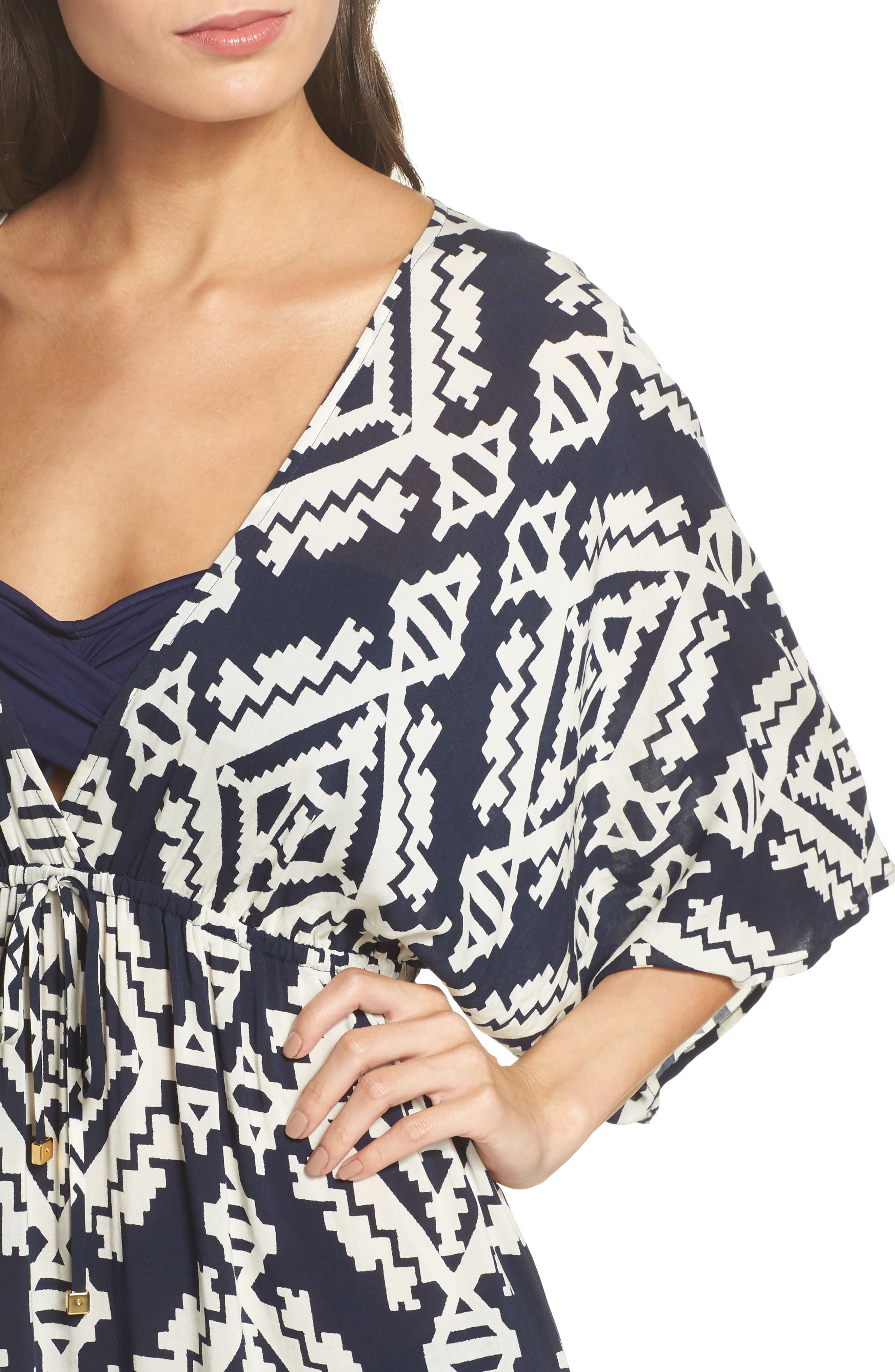 Tapestry Geo Beach Dress,                             Alternate thumbnail 4, color,                             Tapestry Geo