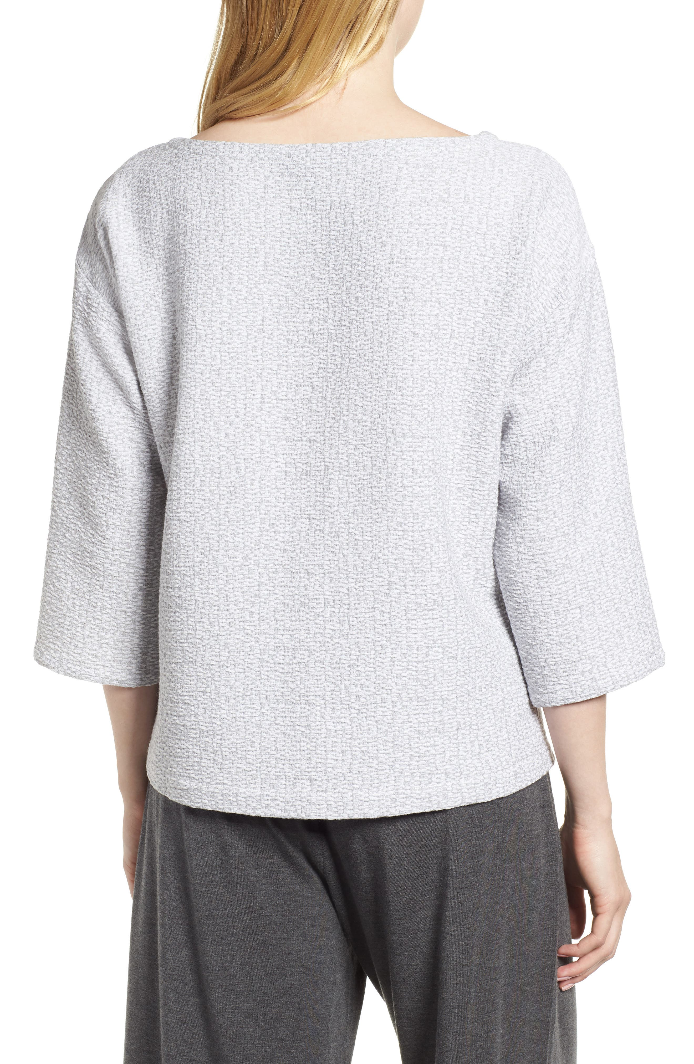 Alternate Image 2  - Eileen Fisher Bateau Neck Box Top