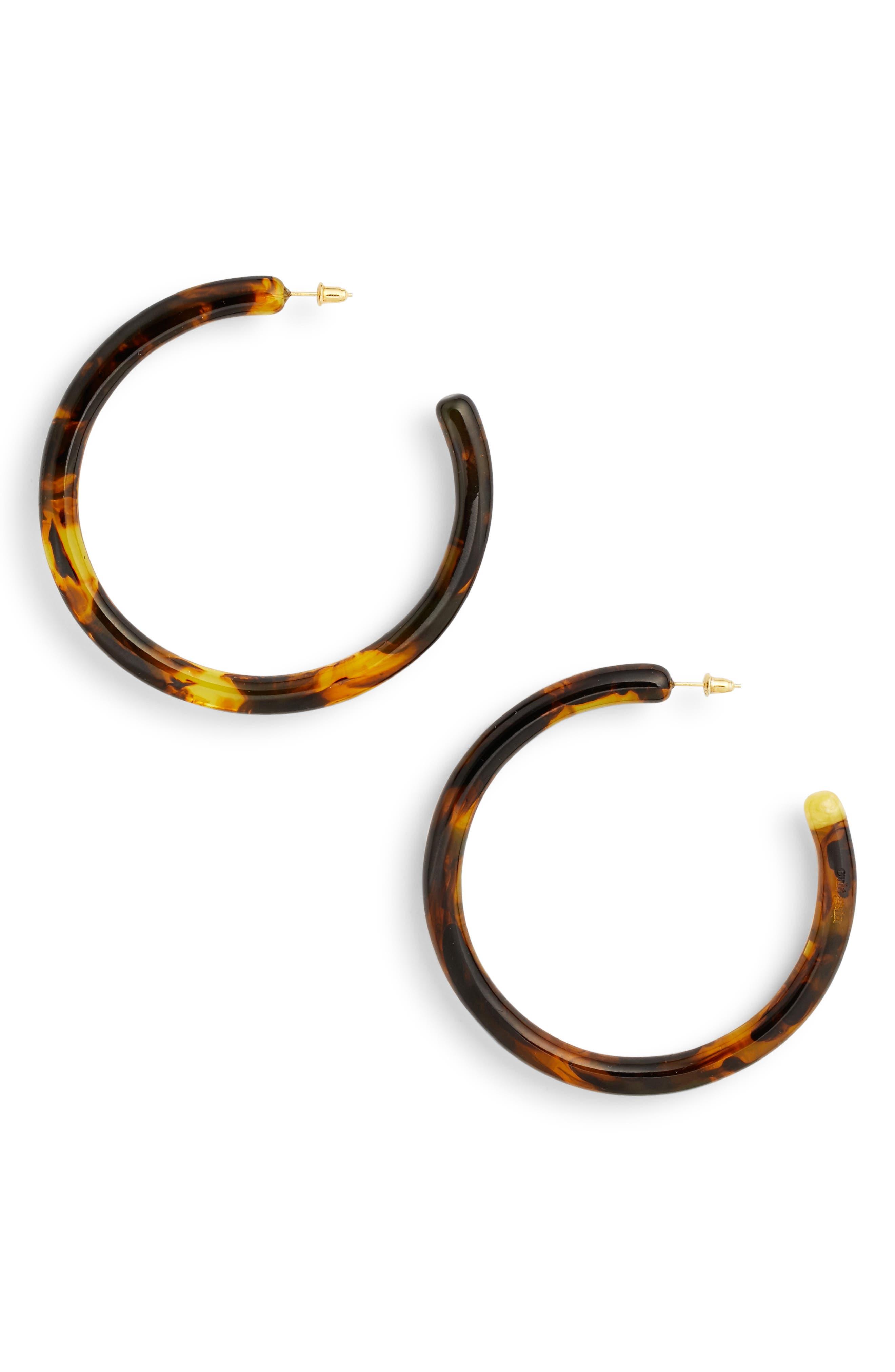Main Image - Cult Gaia Large Geneva Tubular Hoop Earrings
