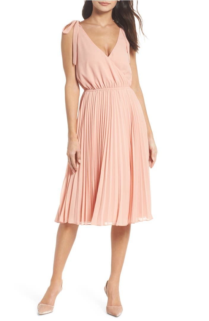 Main Image - Ali & Jay The Left Bank Pleat Dress