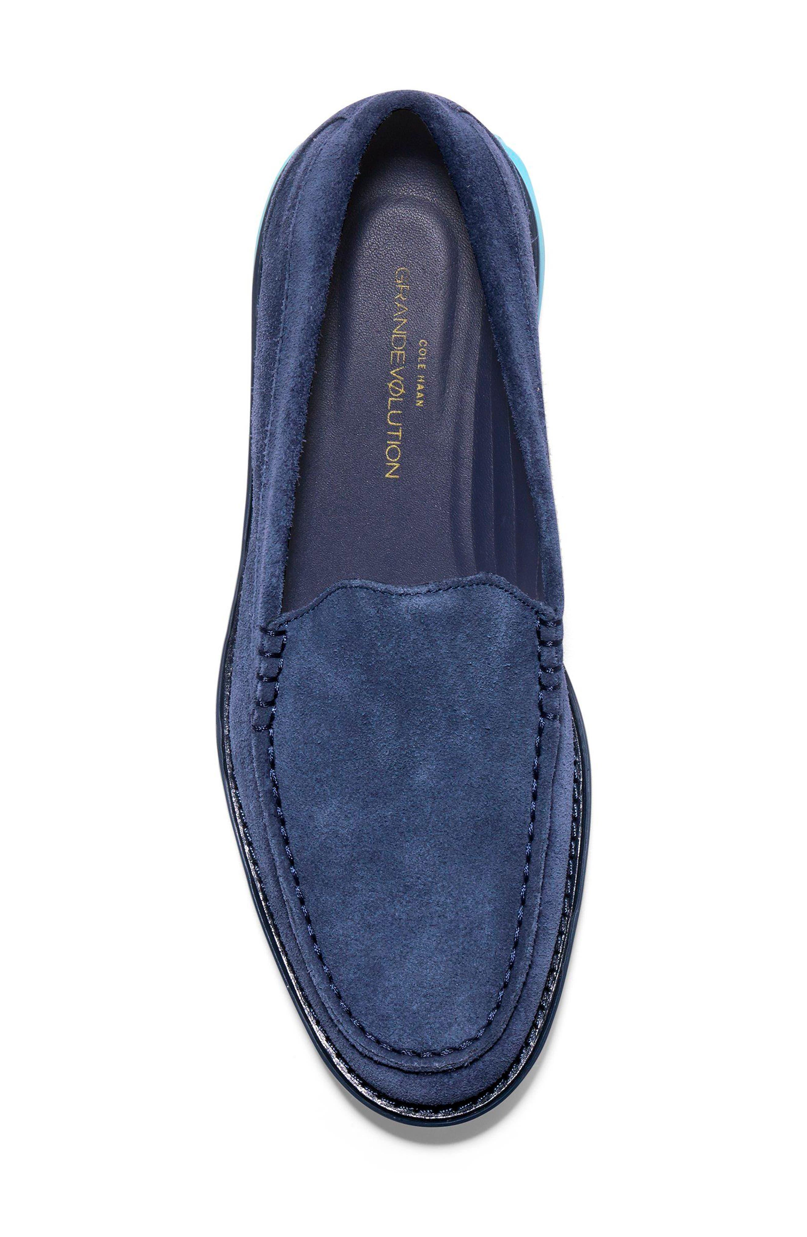 GrandEvølution Venetian Loafer,                             Alternate thumbnail 5, color,                             Marine Blue Suede