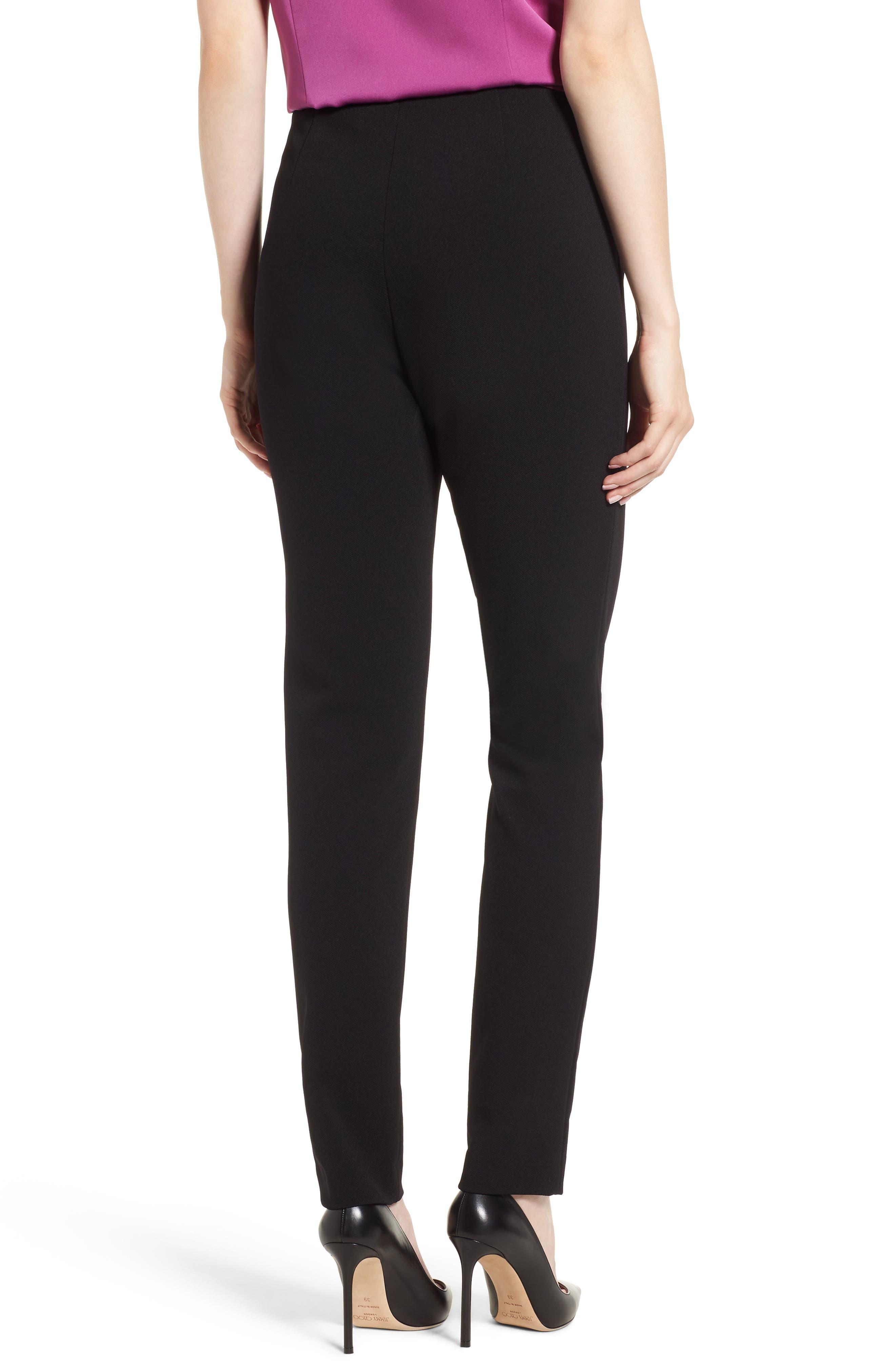 Tilezea Twill Jersey Trousers,                             Alternate thumbnail 2, color,                             Black
