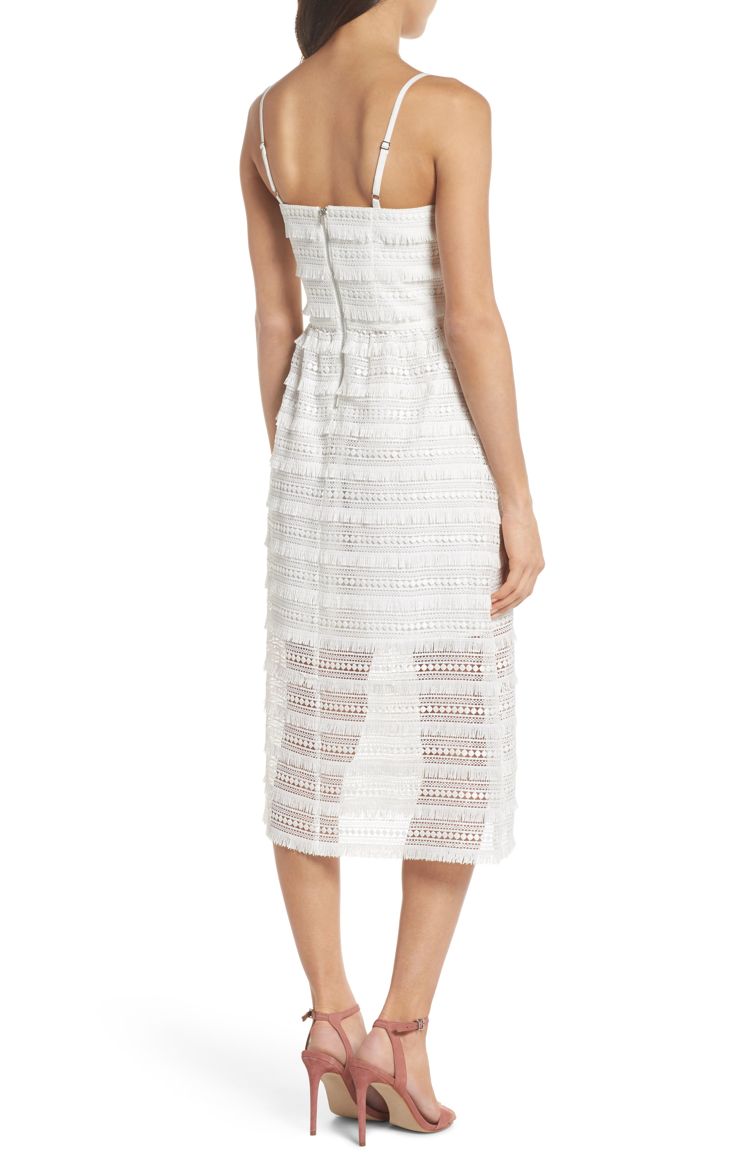 Maybe Mozza Midi Sundress,                             Alternate thumbnail 2, color,                             White