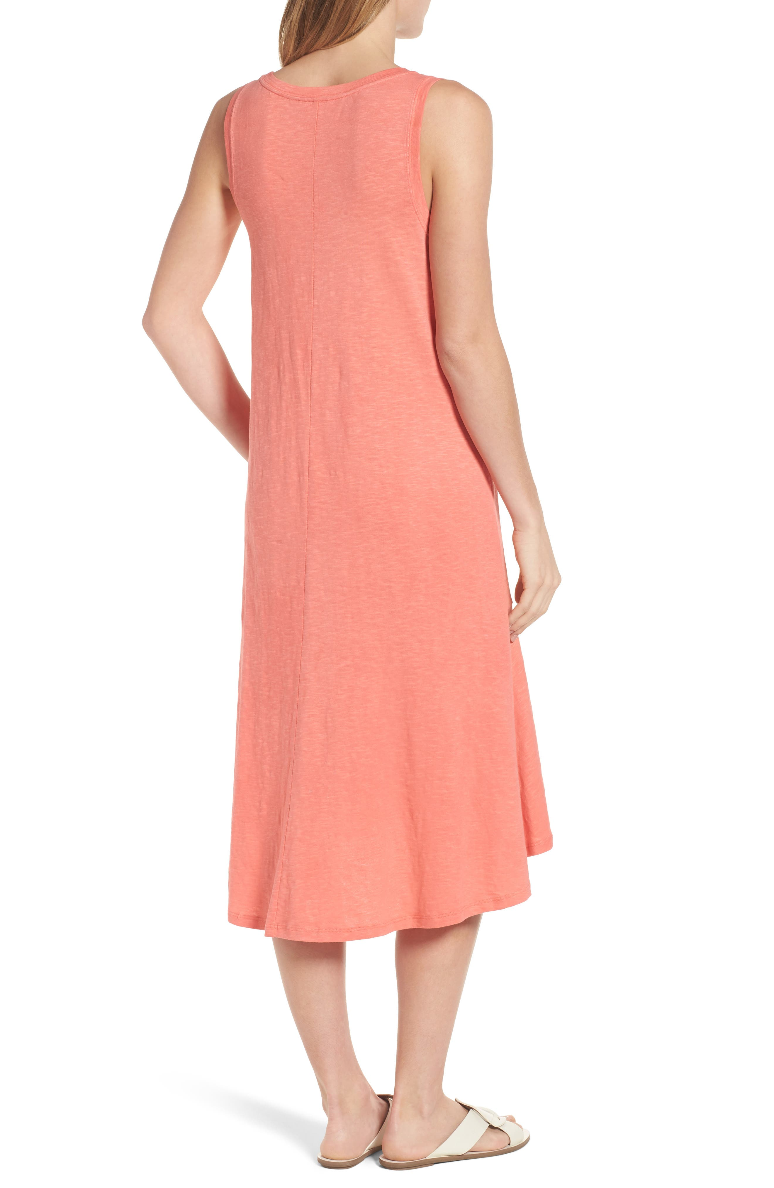 Drop Waist Jersey Dress,                             Alternate thumbnail 2, color,                             Coral Rose