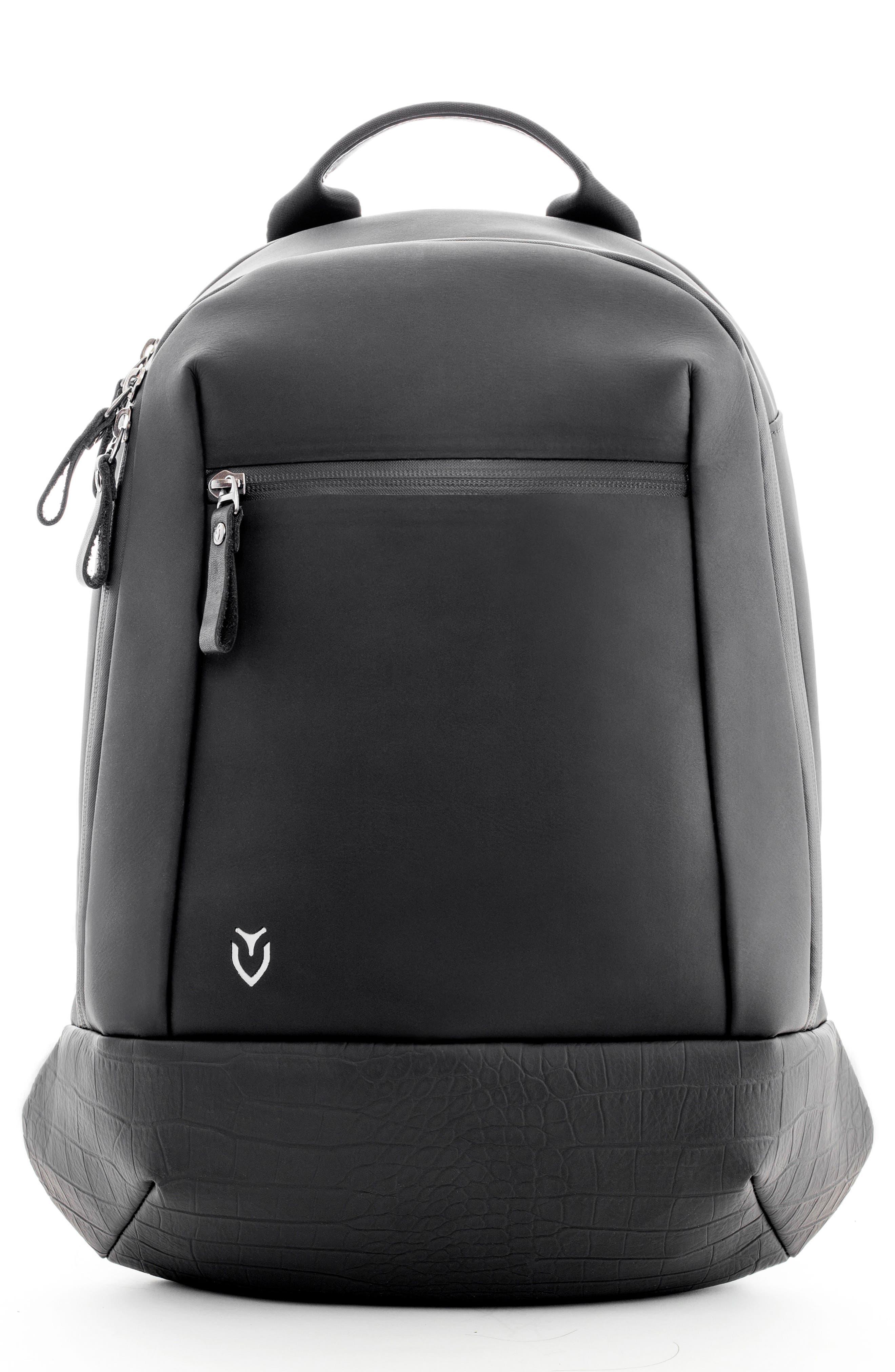 Mini Faux Leather Backpack,                             Main thumbnail 1, color,                             Matte/ Croc