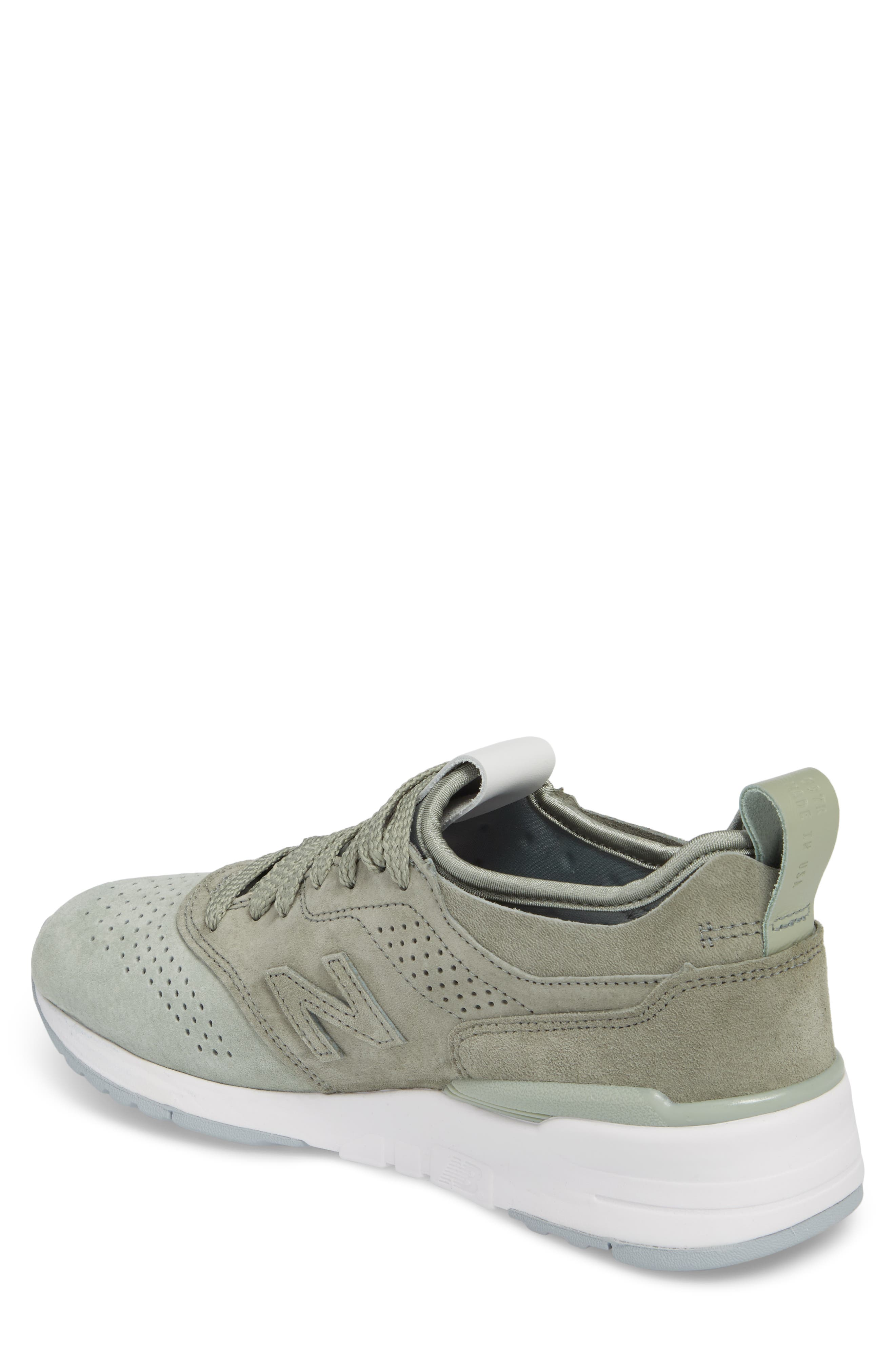 997R Perforated Sneaker,                             Alternate thumbnail 2, color,                             Silver Mint