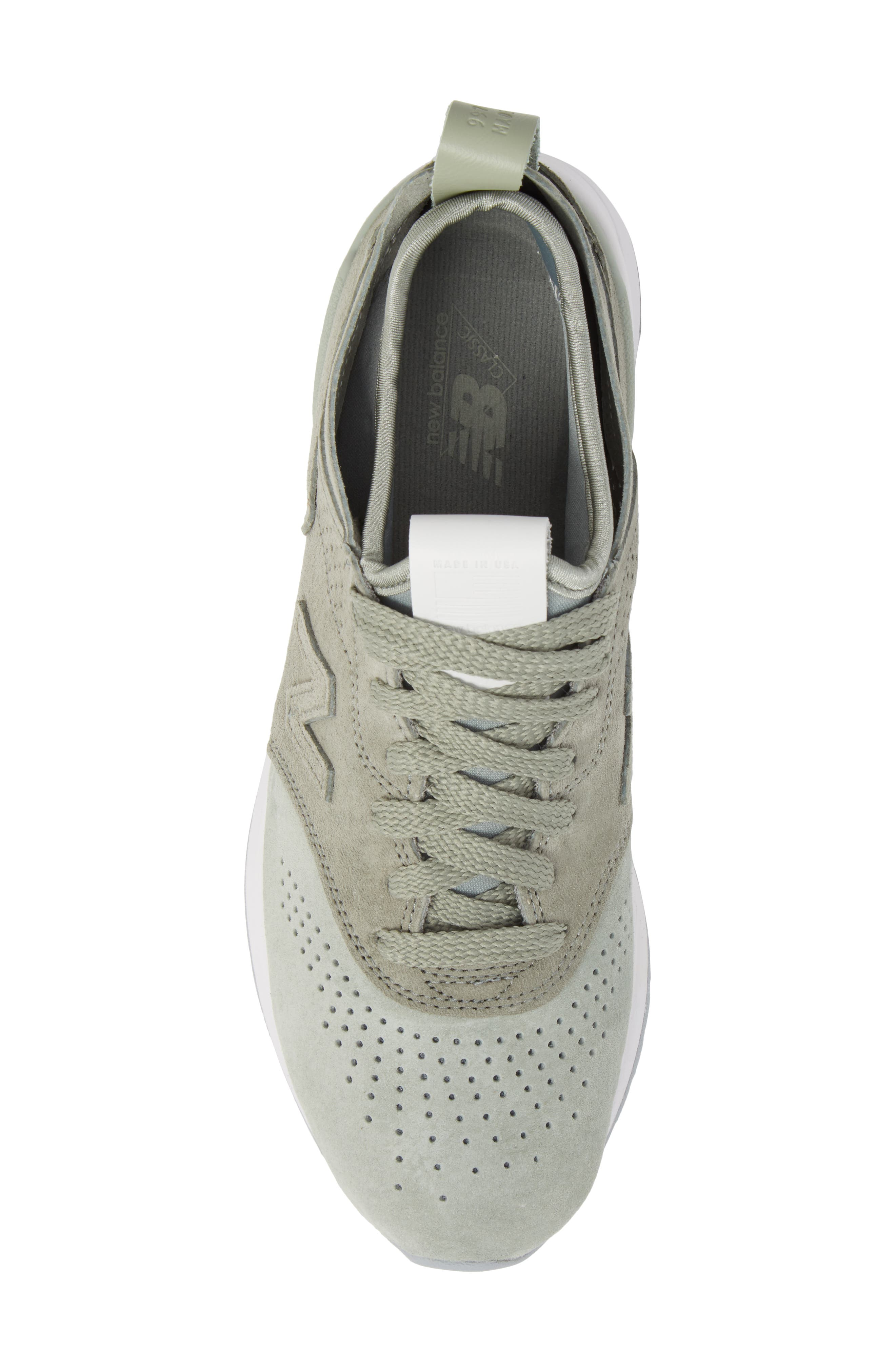 997R Perforated Sneaker,                             Alternate thumbnail 5, color,                             Silver Mint