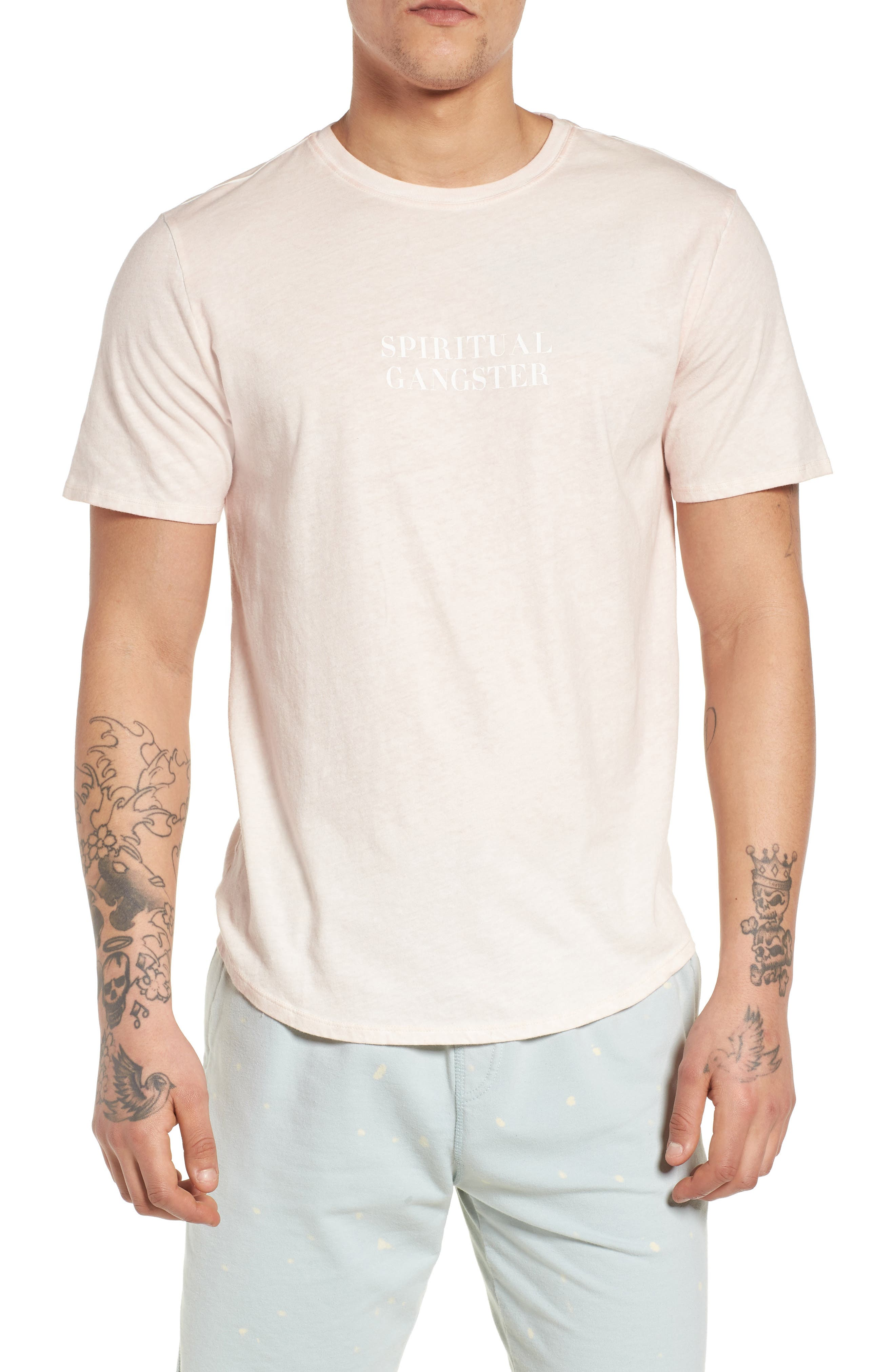 Neue Varsity T-Shirt,                         Main,                         color, Pink Sand/ Pink