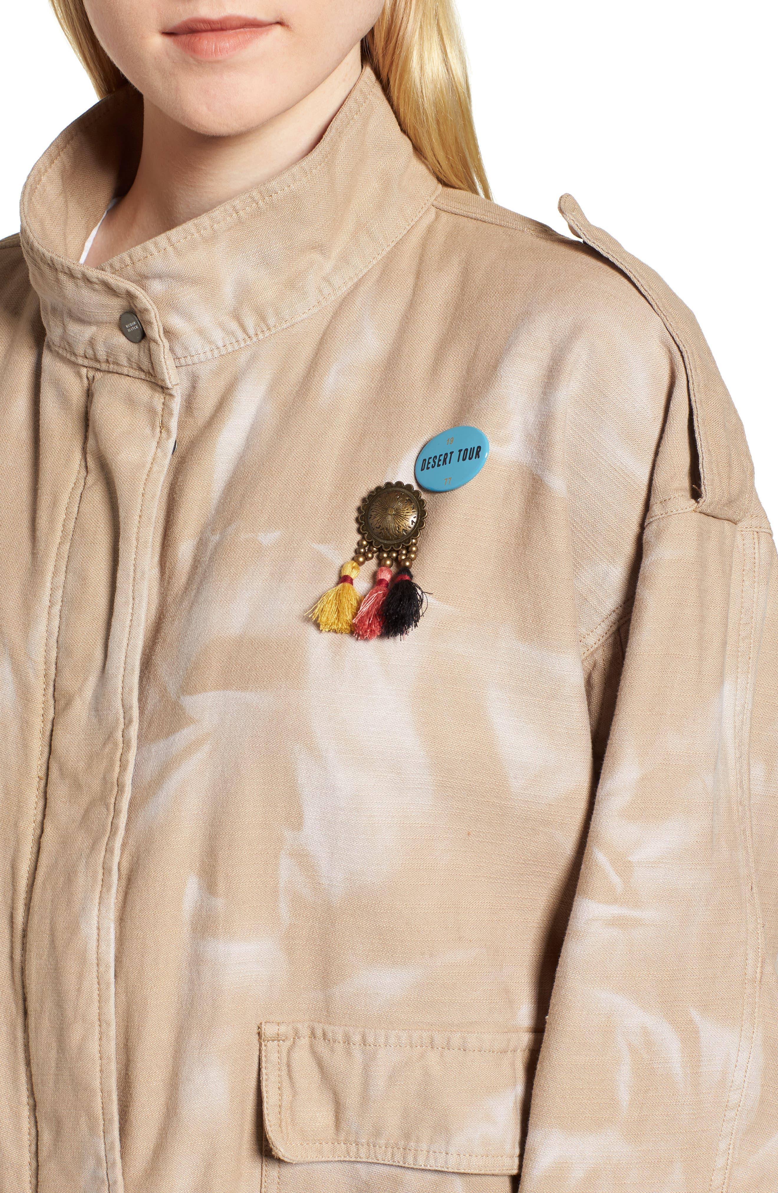 Oversize Military Jacket,                             Alternate thumbnail 4, color,                             Color 37 Sand