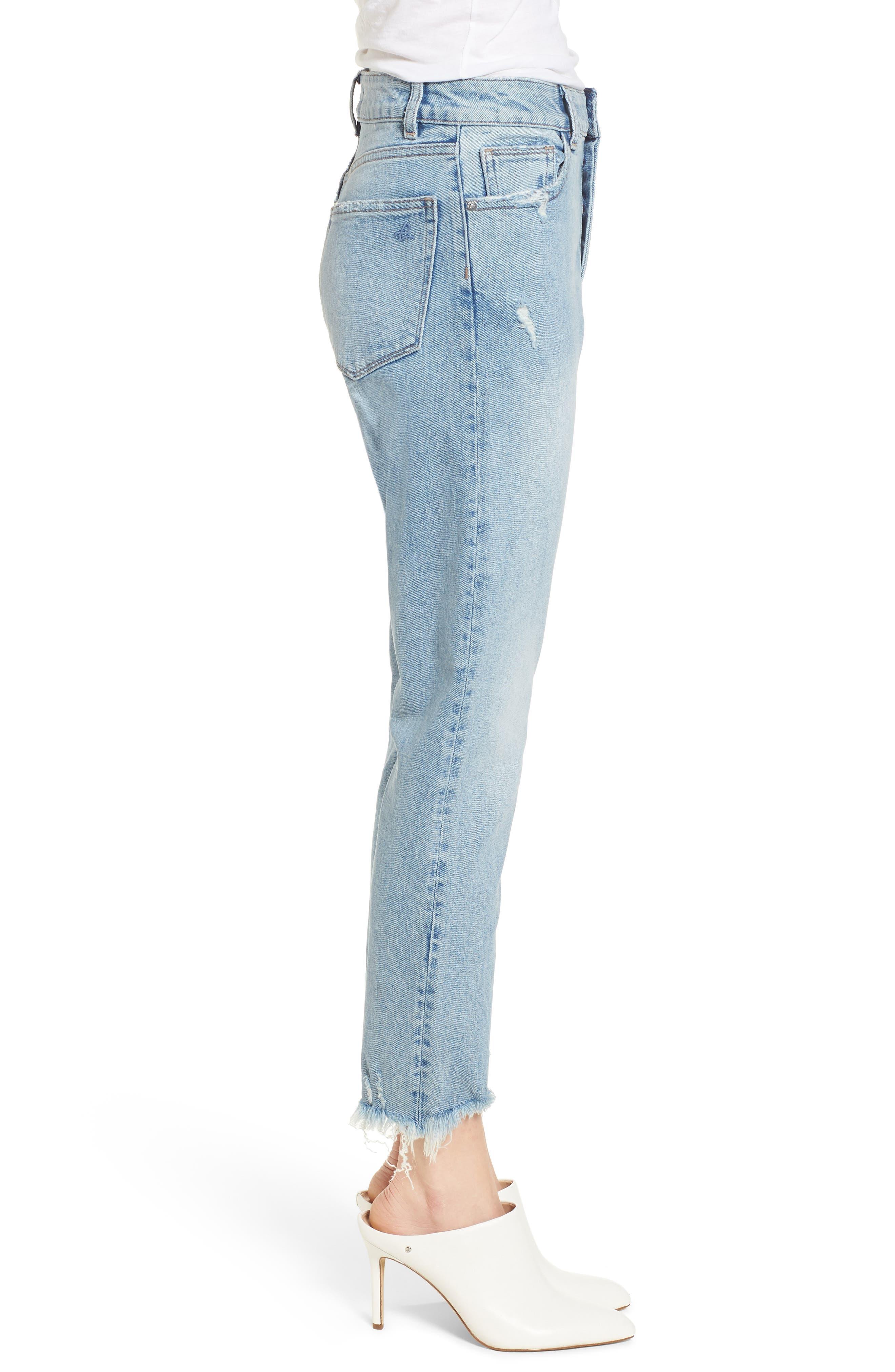 Bella Vintage Crop Slim Jeans,                             Alternate thumbnail 3, color,                             Super Bleach