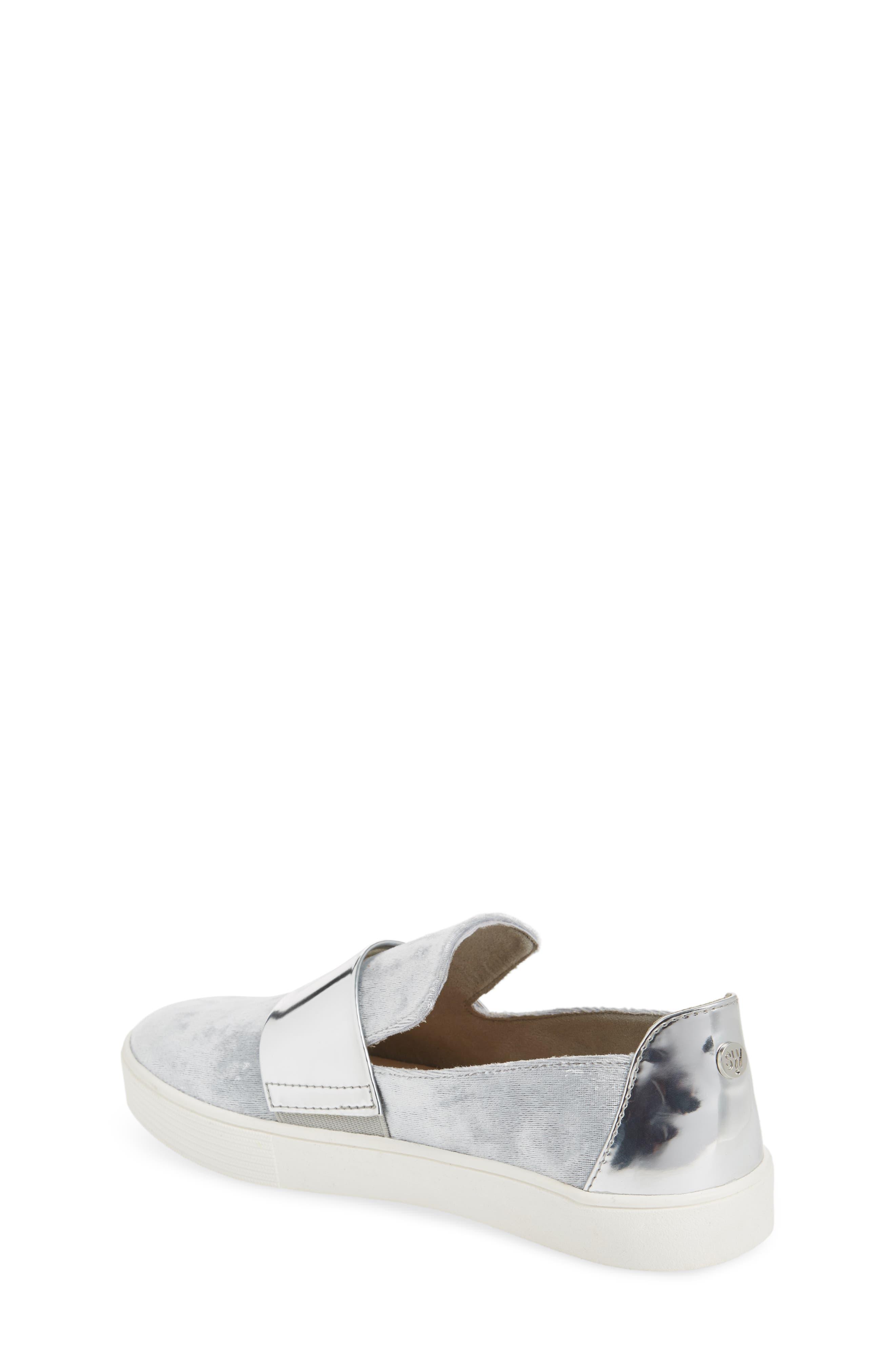 Vance Slip-On Sneaker,                             Alternate thumbnail 2, color,                             Silver
