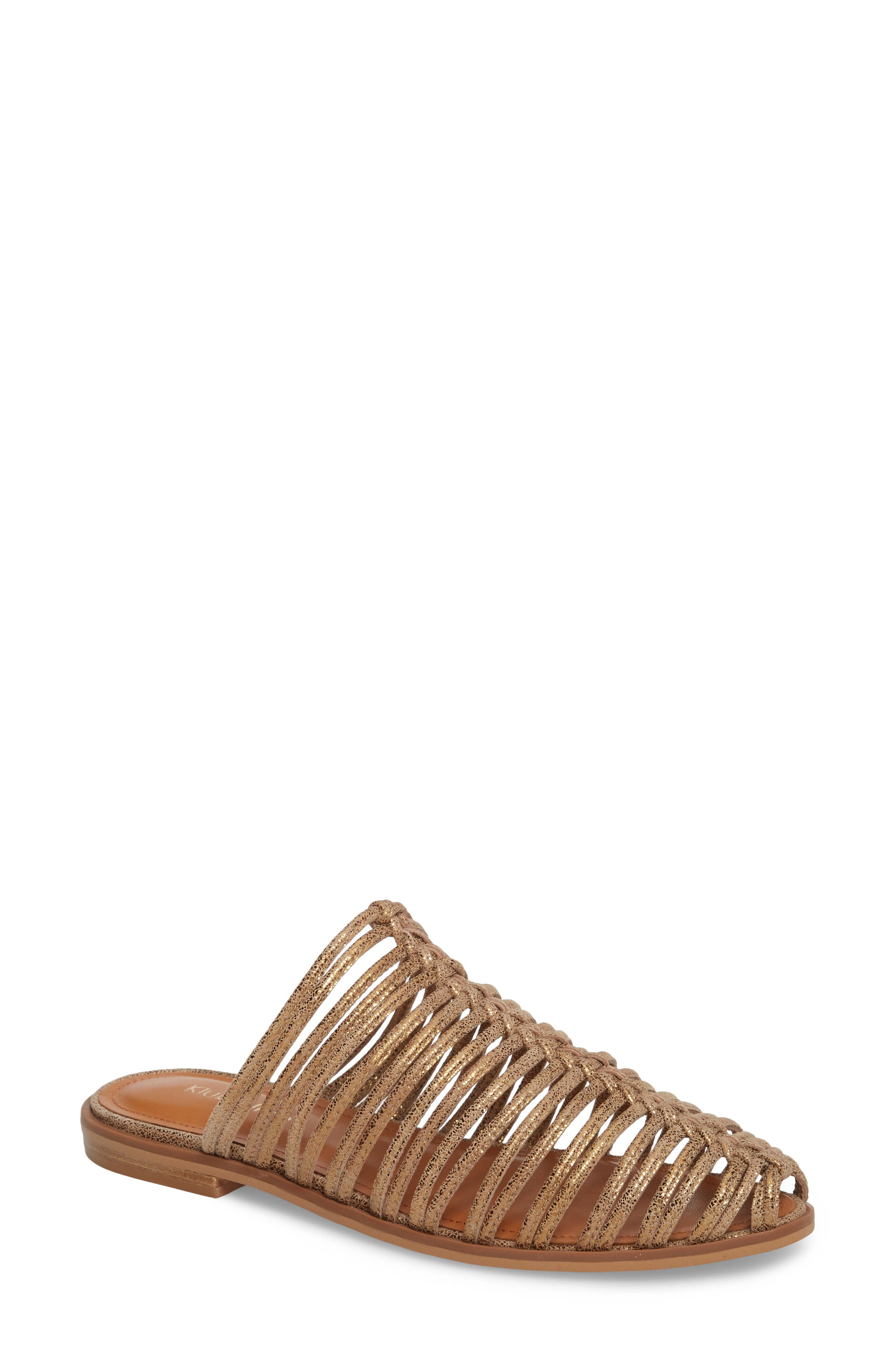 Geonna Sandal,                         Main,                         color, Bronze Suede