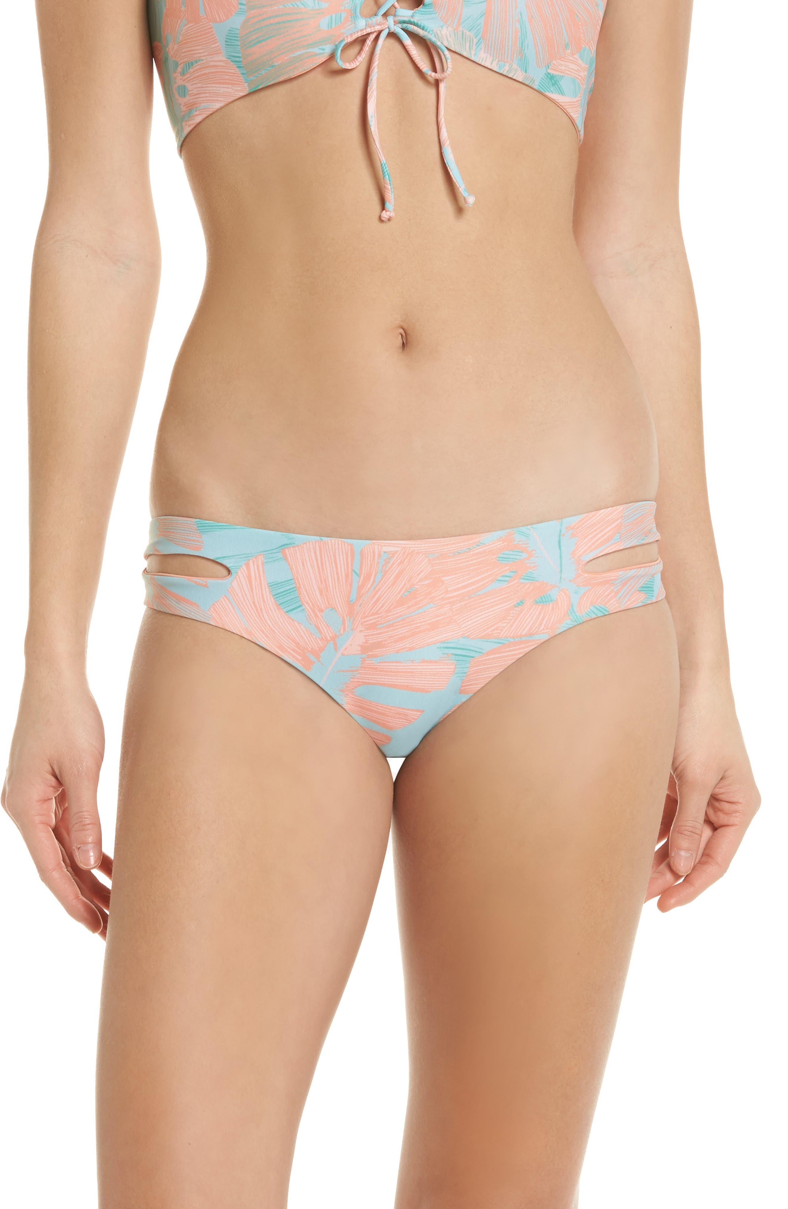 Estella Classic Bikini Bottoms,                             Main thumbnail 1, color,                             Bungalow Palm