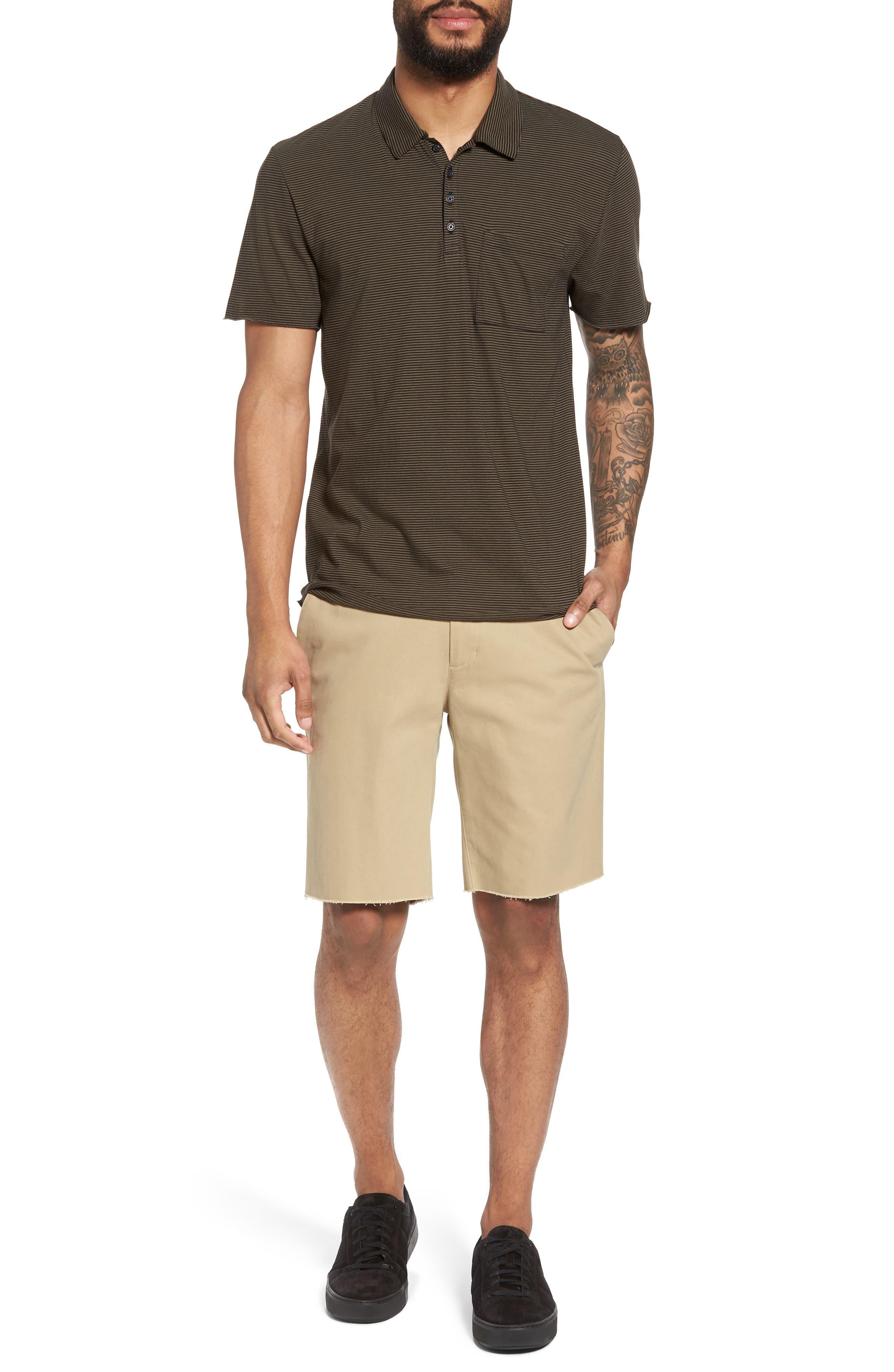 Slim Fit Chino Shorts,                             Alternate thumbnail 7, color,                             Camp Green