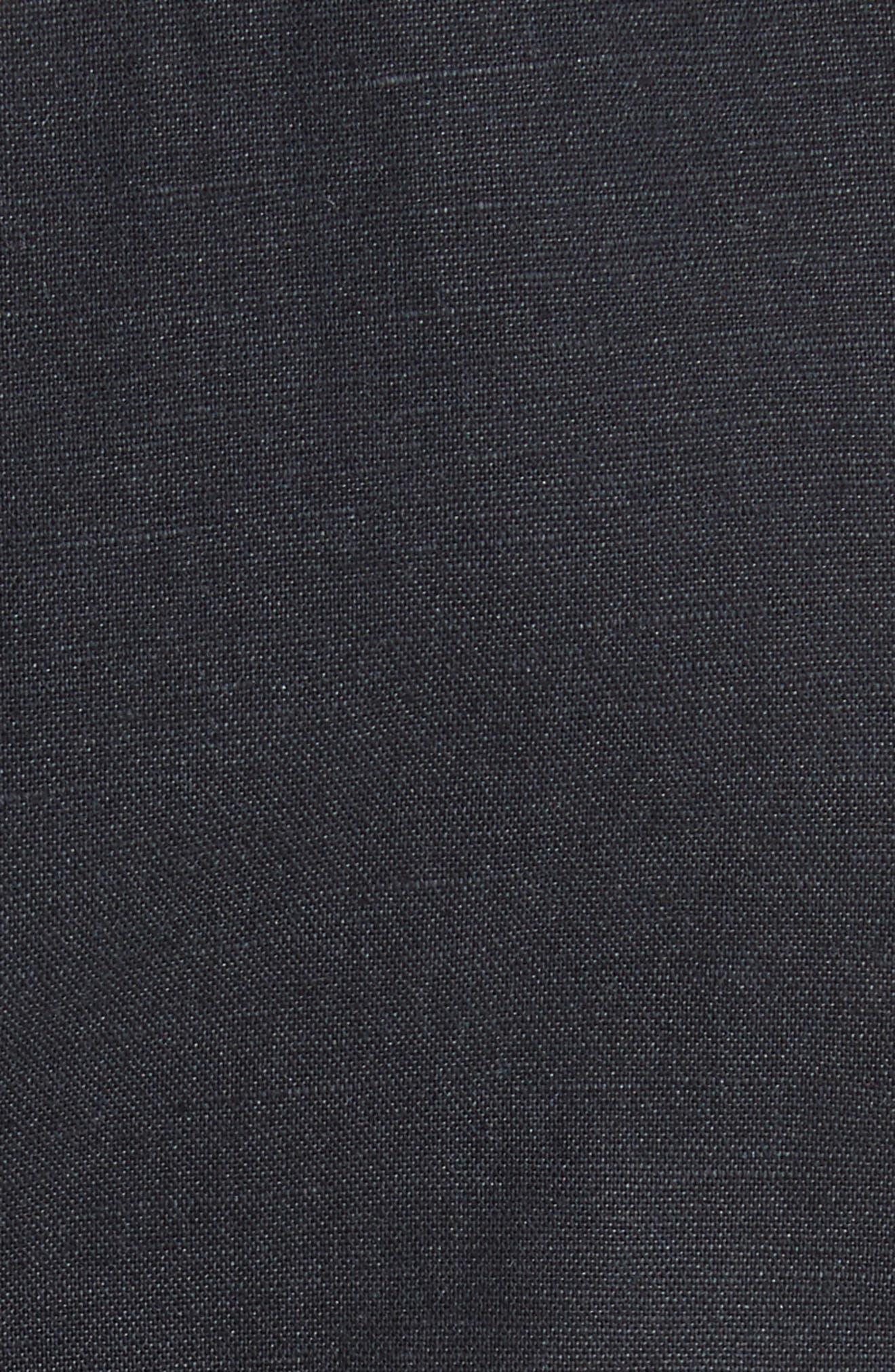 Circular Print Asymmetrical Draped Dress,                             Alternate thumbnail 6, color,                             Wht/ Blk X Blk