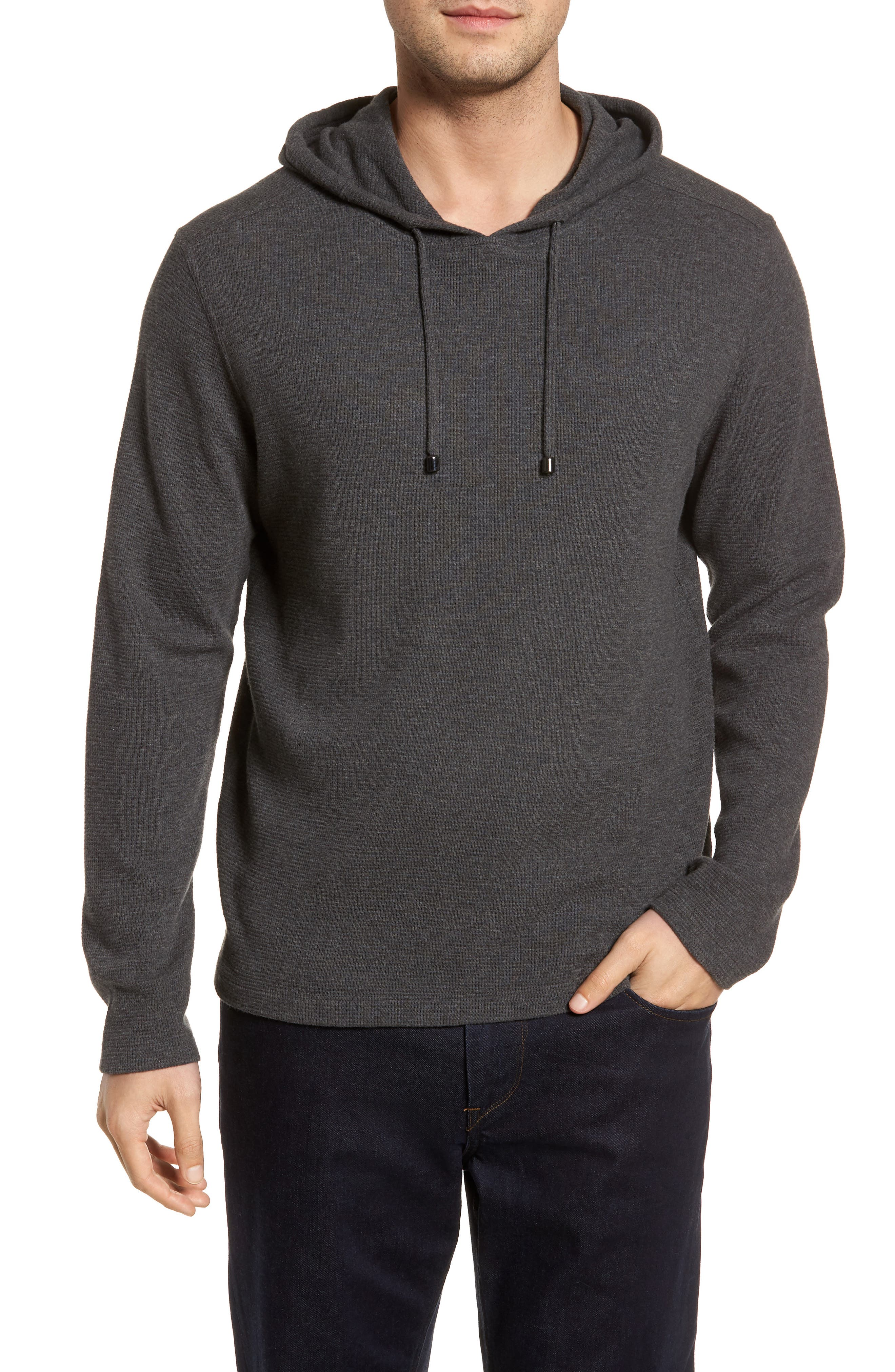 Wilson Pullover Hoodie,                         Main,                         color, Charcoal